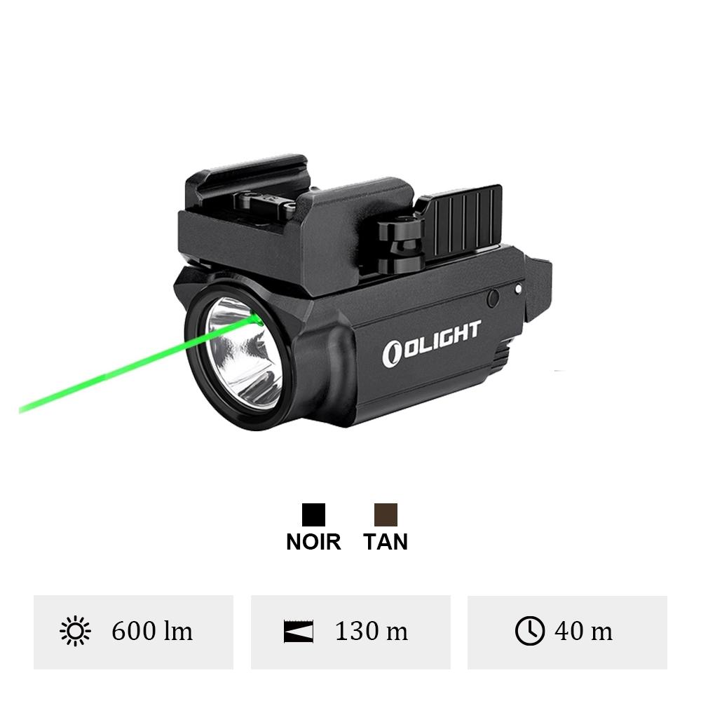 Olight Baldr Mini - Lampe Torche Laser Vert Militaire Puissante