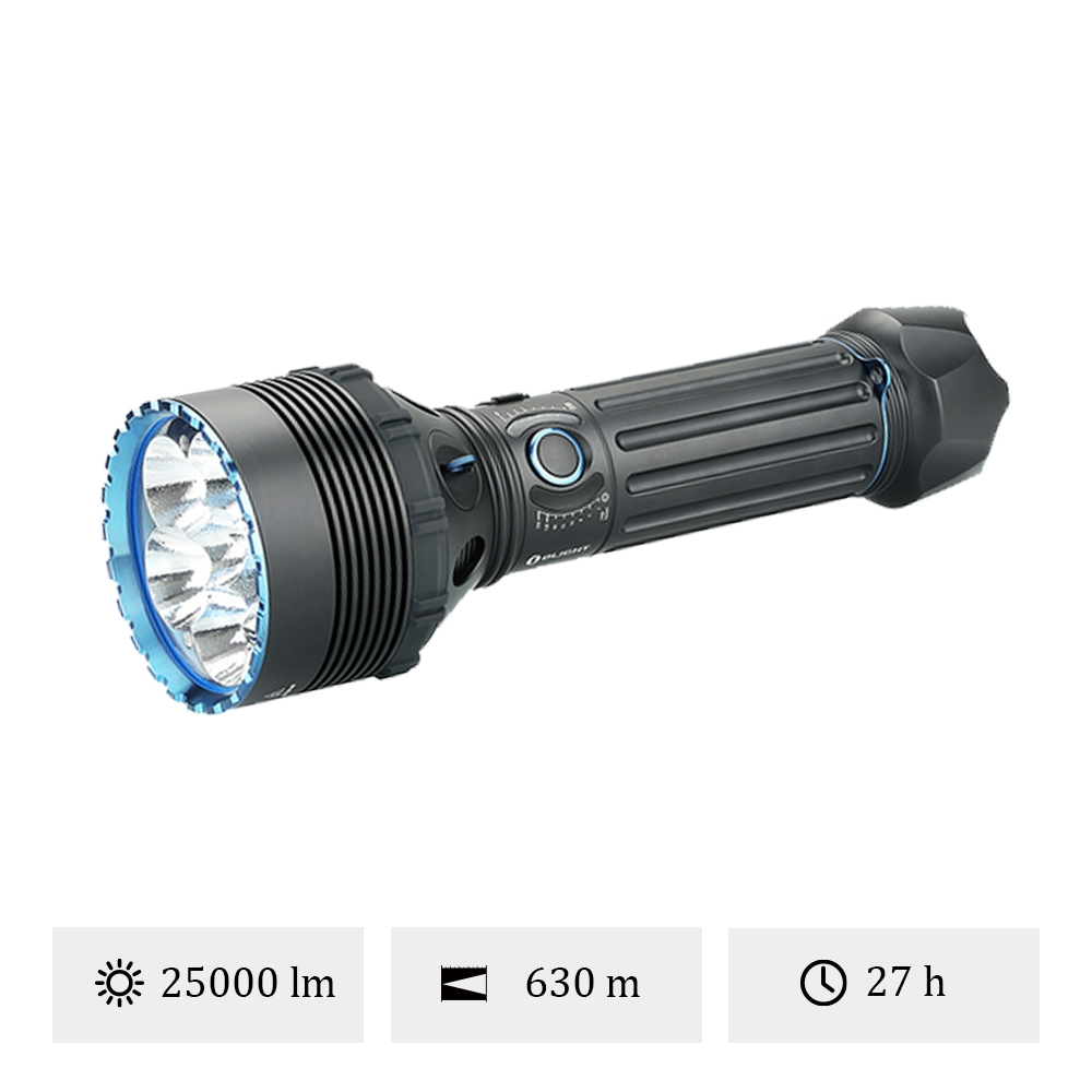 OLight X9R Marauder - Grosse Lampe Torche 25000 Lumens