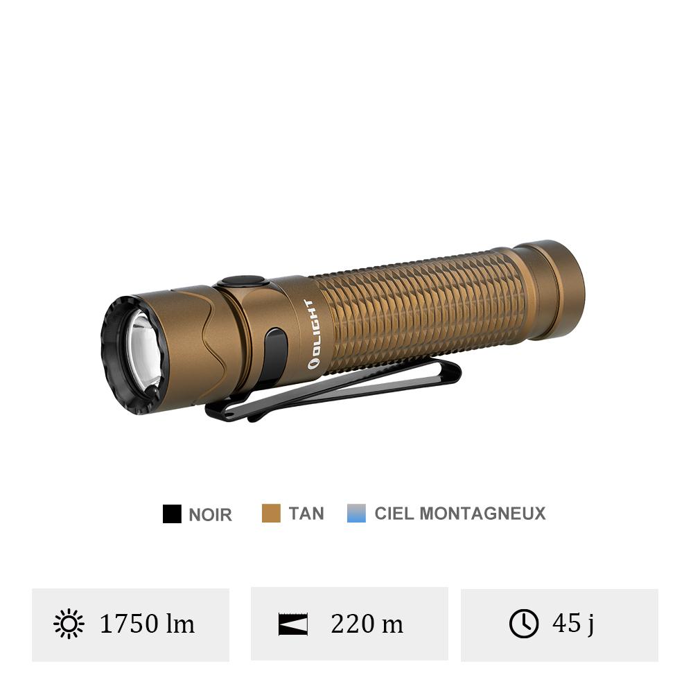 Olight Warrior Mini 2 - Lampe Torche Autodéfense EDC 1750 Lumens