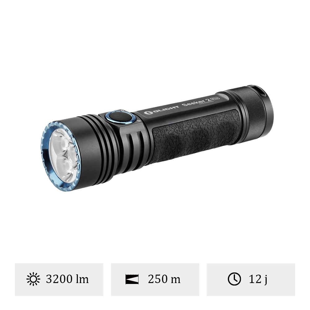 Olight Seeker 2 Pro - Lampe Torche LED Puissante 3200 Lumens