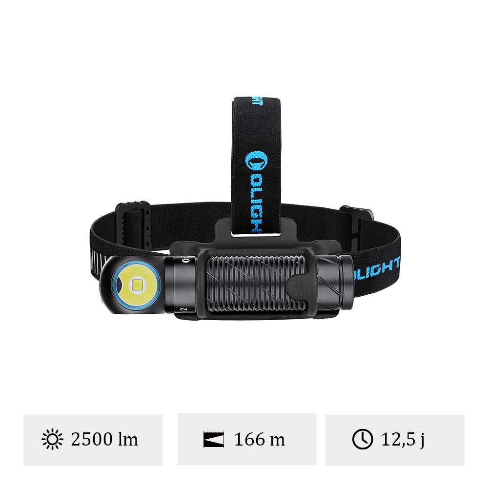 Olight Perun 2 - Lampe Frontale Puissante Rechargeable Orientable