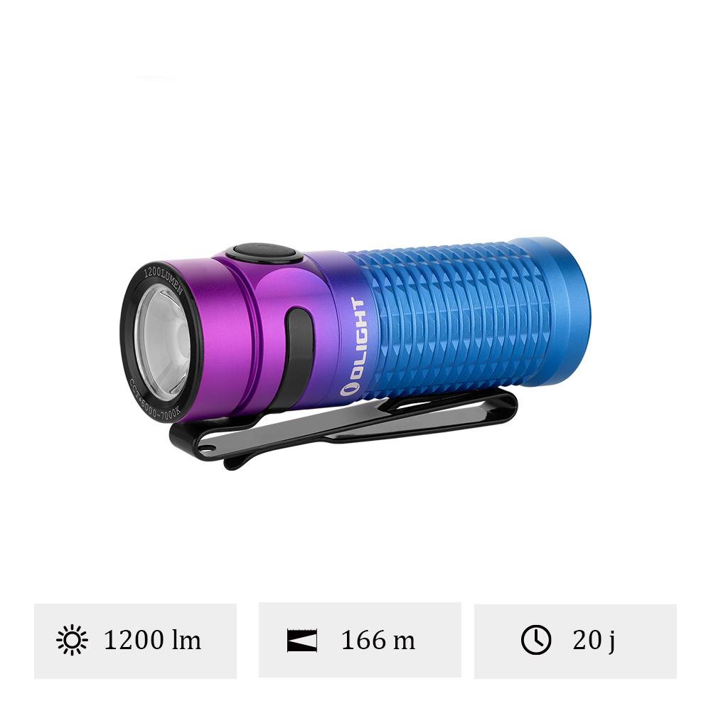 Olight Baton 3 Standard Dégradé Violet - Lampe De Poche Magnétique