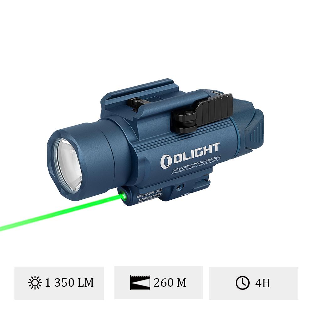 Olight Baldr Pro Bleu Nuit - Lampe Ultra Puissante Militaire Avec Laser Vert