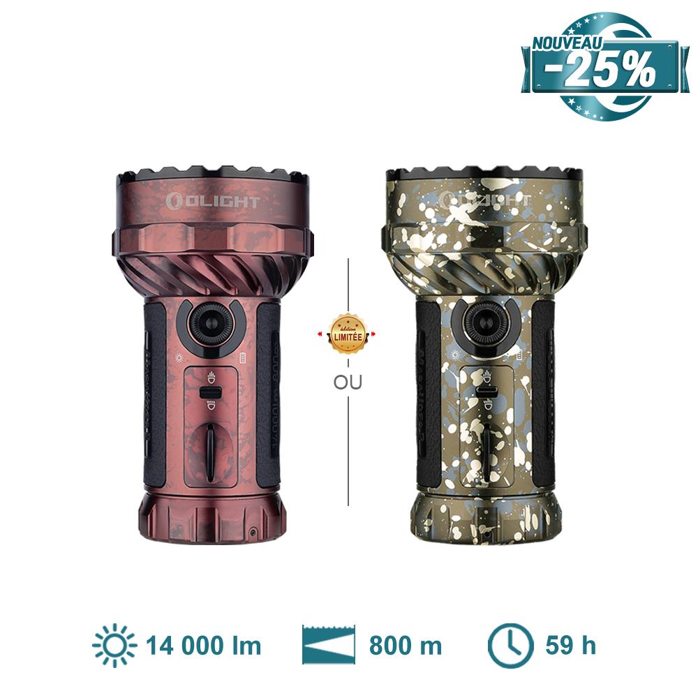 Olight Marauder 2 - Torche LED Ultra Puissante 14000 Lumens