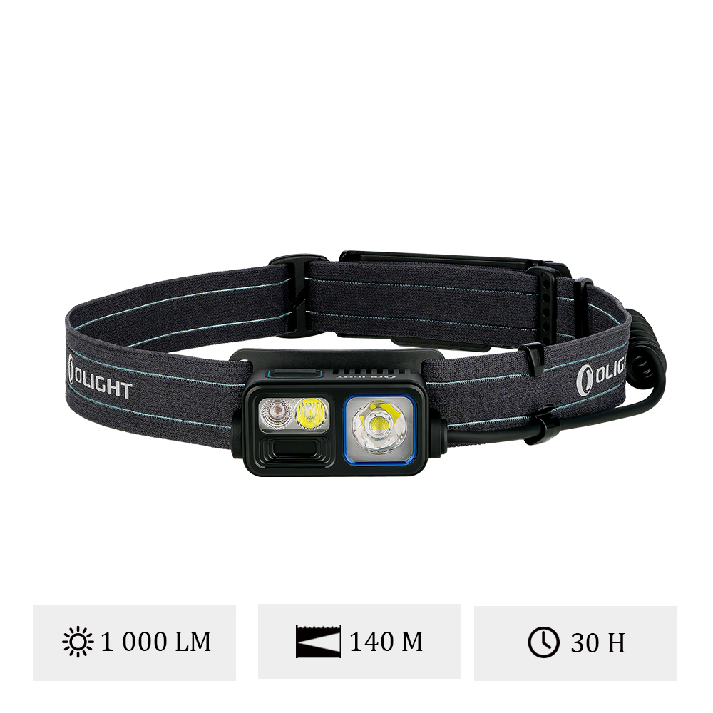 Olight Array 2S - Lampe Frontale LED Rechargeable 1000 Lumens