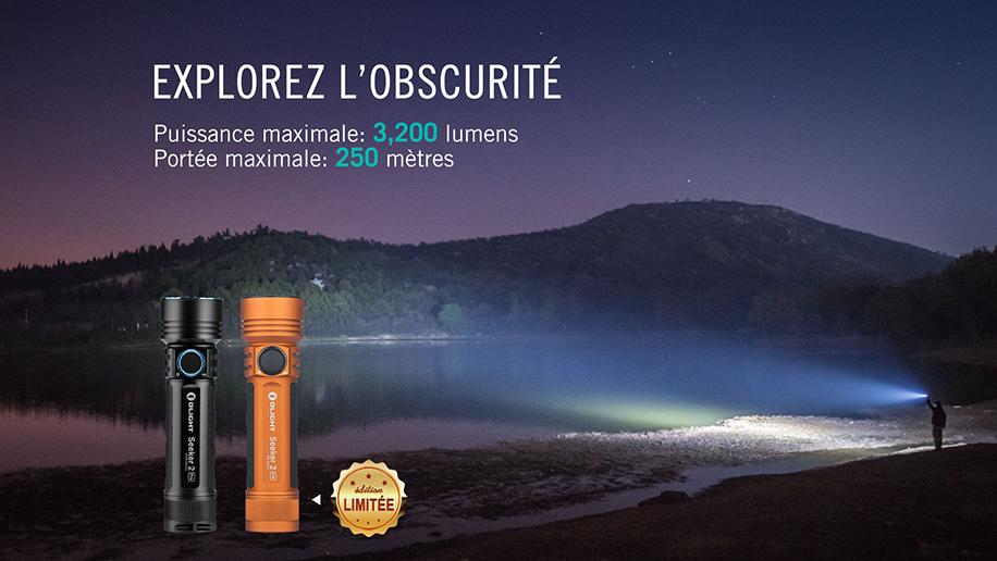 Seeker 2 PRO - Lampe Torche LED Puissante 3200 Lumens