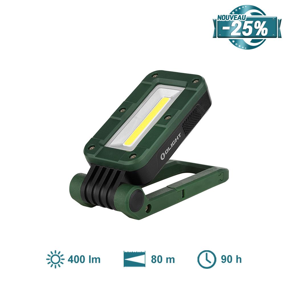 Olight Swivel Vert Mousse - Lampe de Travail Rechargeable Magnétique et Compacte