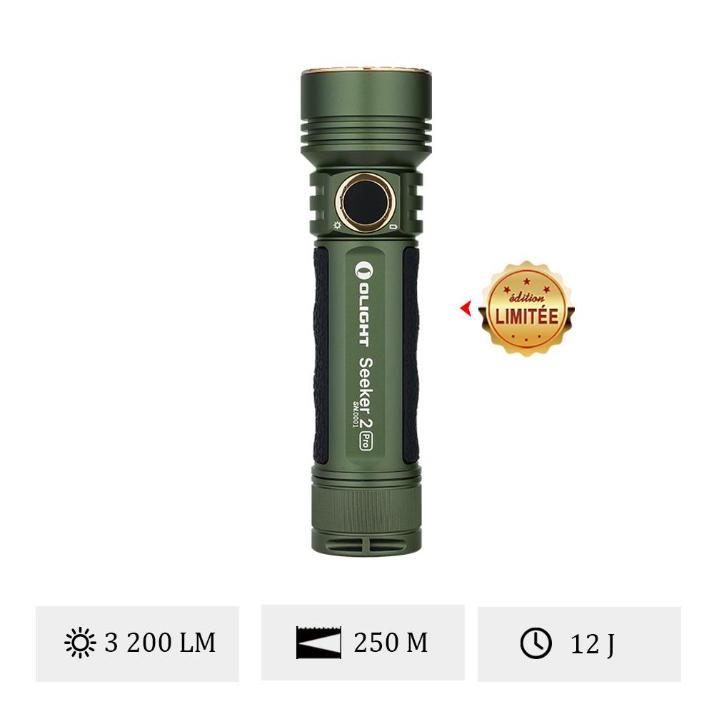 Olight Seeker 2 Pro OD Vert -  Lampe Torche Professionnelle 3200 Lumens