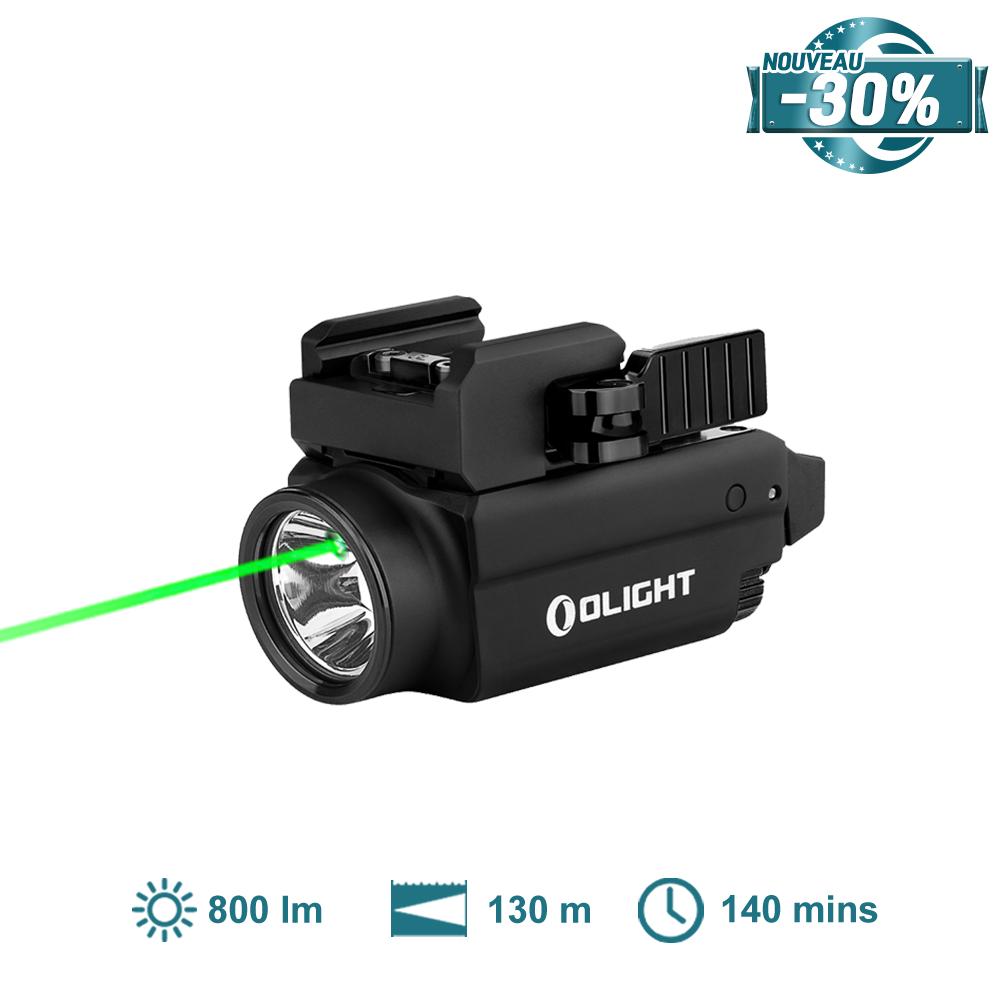 Olight Baldr S Noir Mat - Lampe Rail Picatinny Glock Avec Laser Vert
