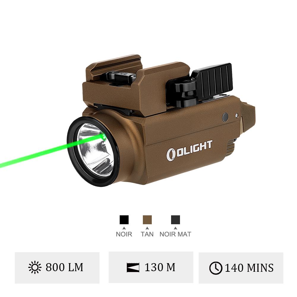 Olight Baldr S - Lampe Rail Picatinny Ou Glock Avec Laser Vert