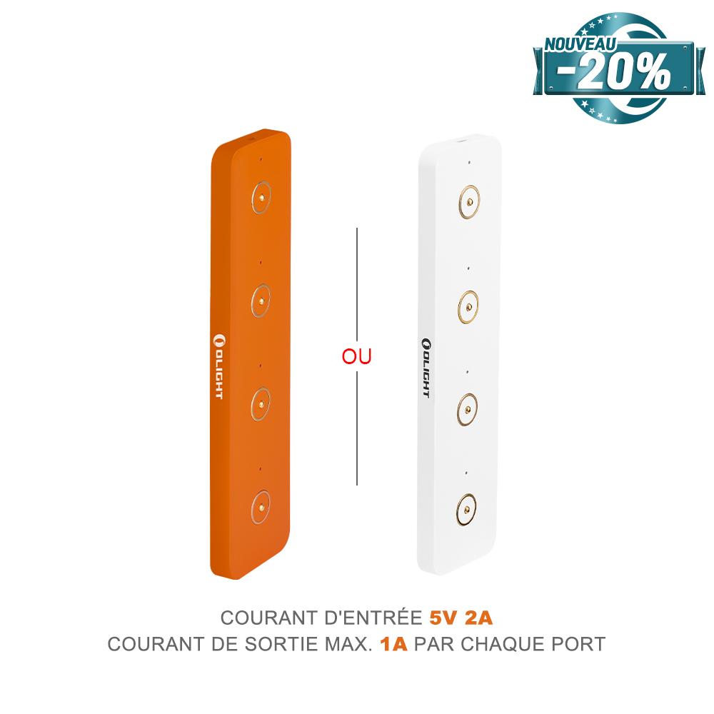 Olight Omino Blanc ou Orange - Prise De Charge Magnétique