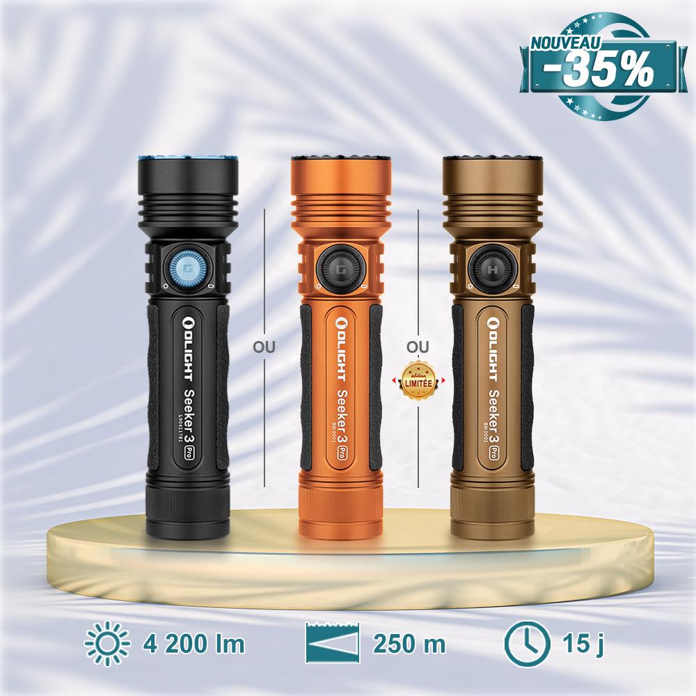 Olight Seeker 3 Pro - Lampe Torche Rechargeable Puissante 4200 Lumens