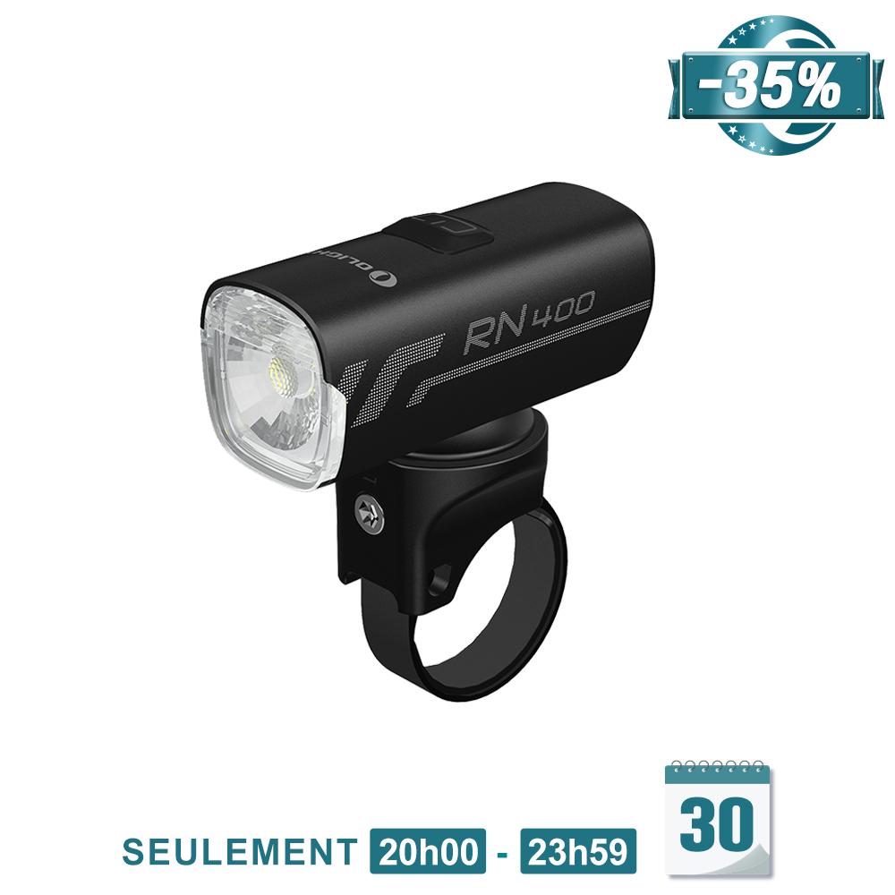 Olight RN 400 - Éclairage Vélo Rechargeable Polyvalent