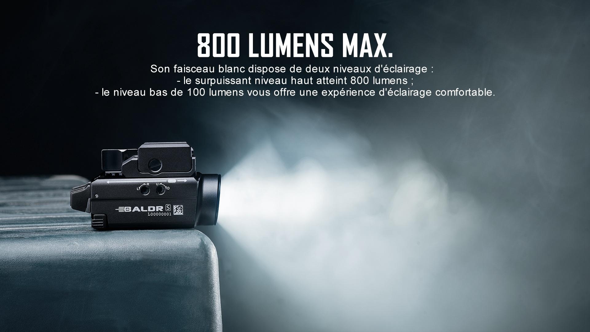 lampe rail picatinny glock 800 lumens