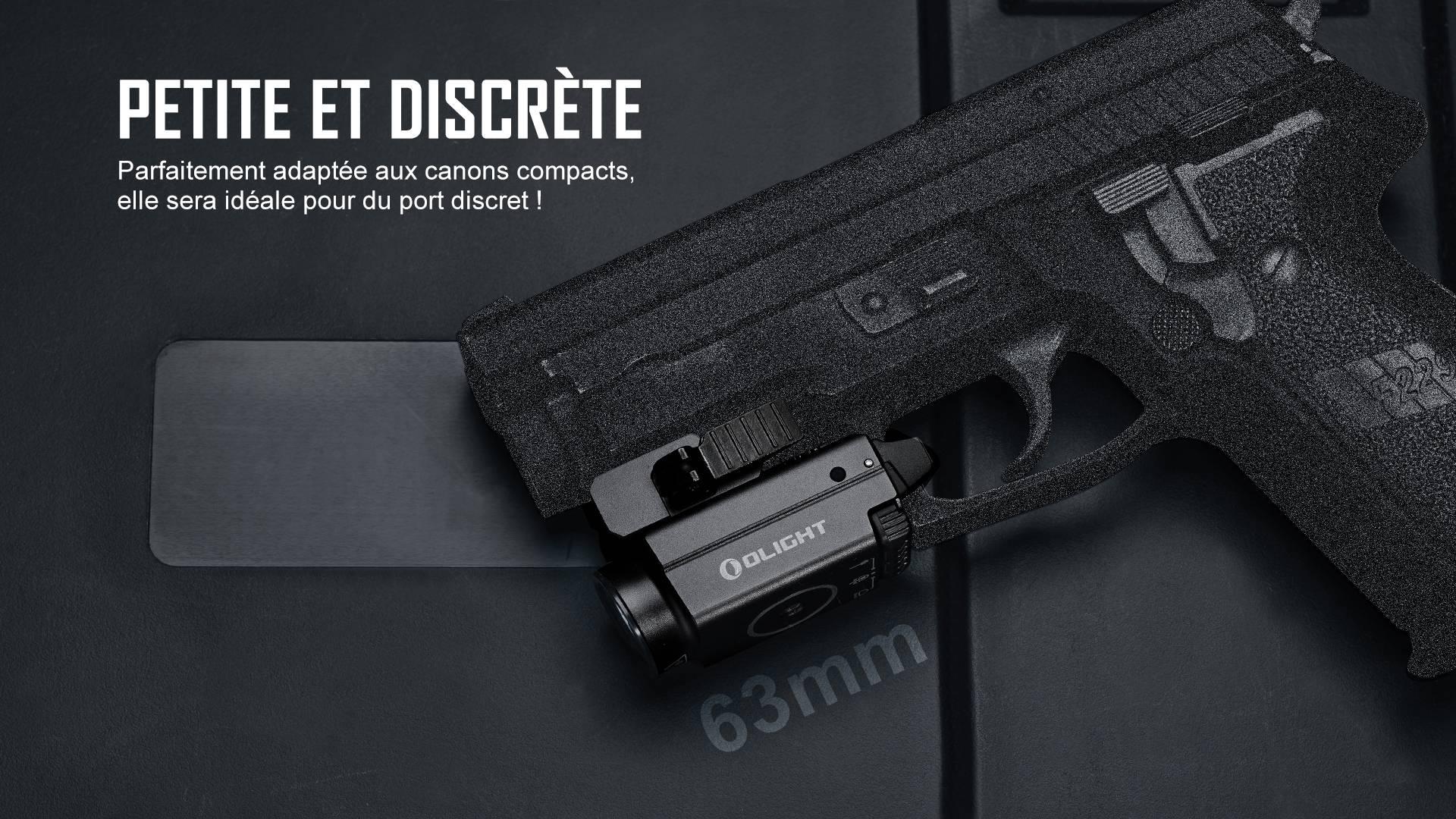 Un rail de lampe idéal pour les pistolets compacts