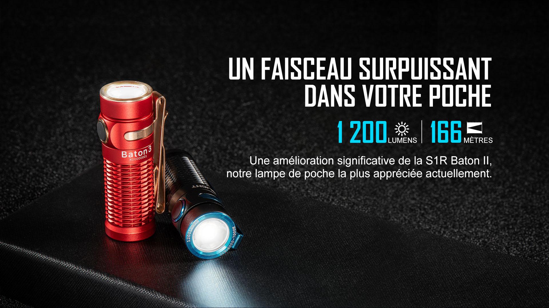 lampe de poche edc rechargeable 1200 lumens