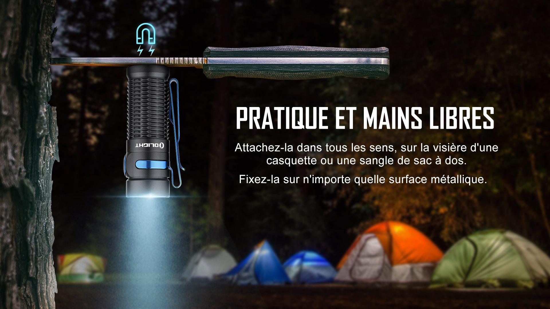lampe de poche Baton 3 a une queue magnétique