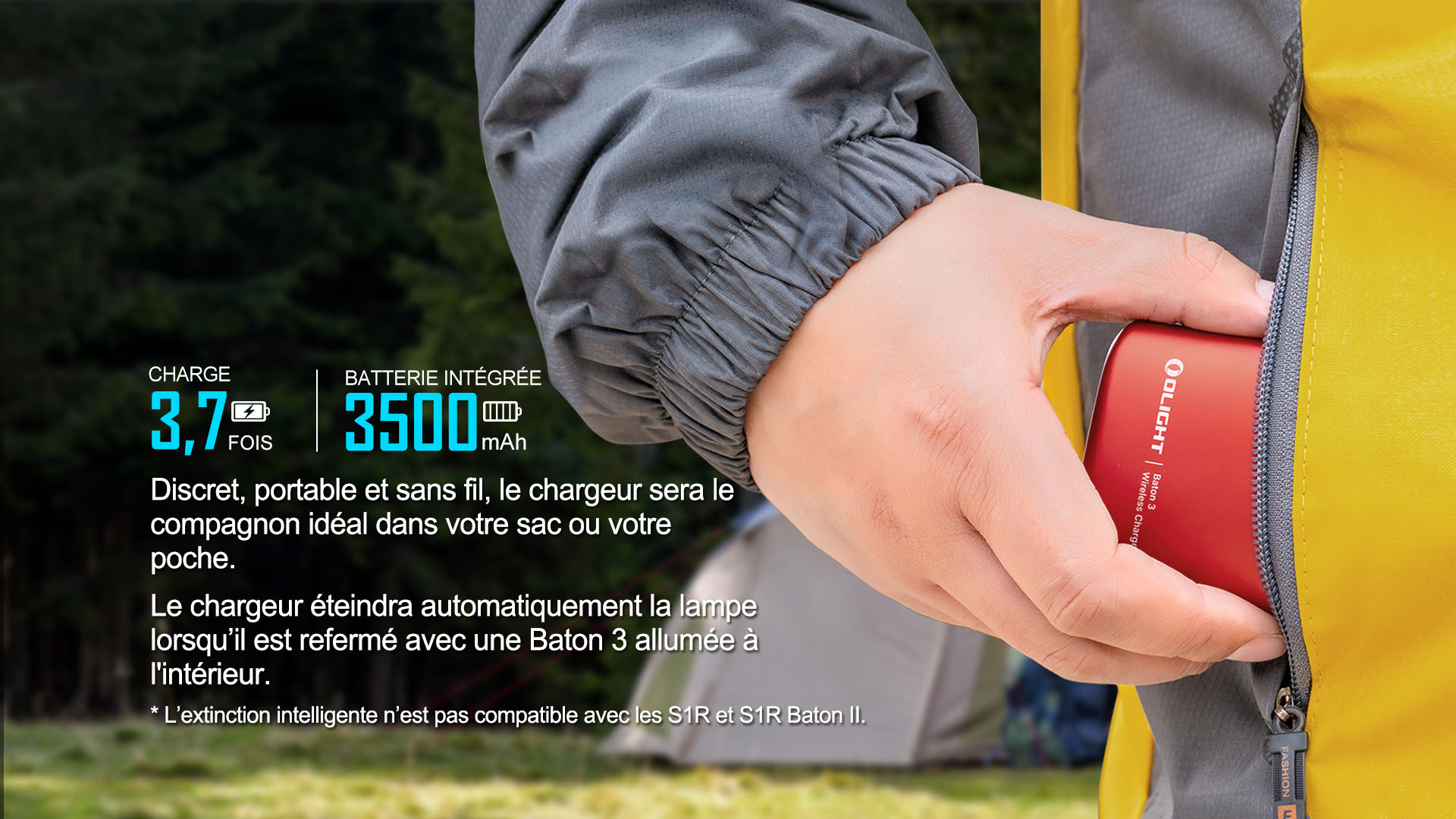Baton 3 Charge intelligente et 3,7 fois plus d'autonomie