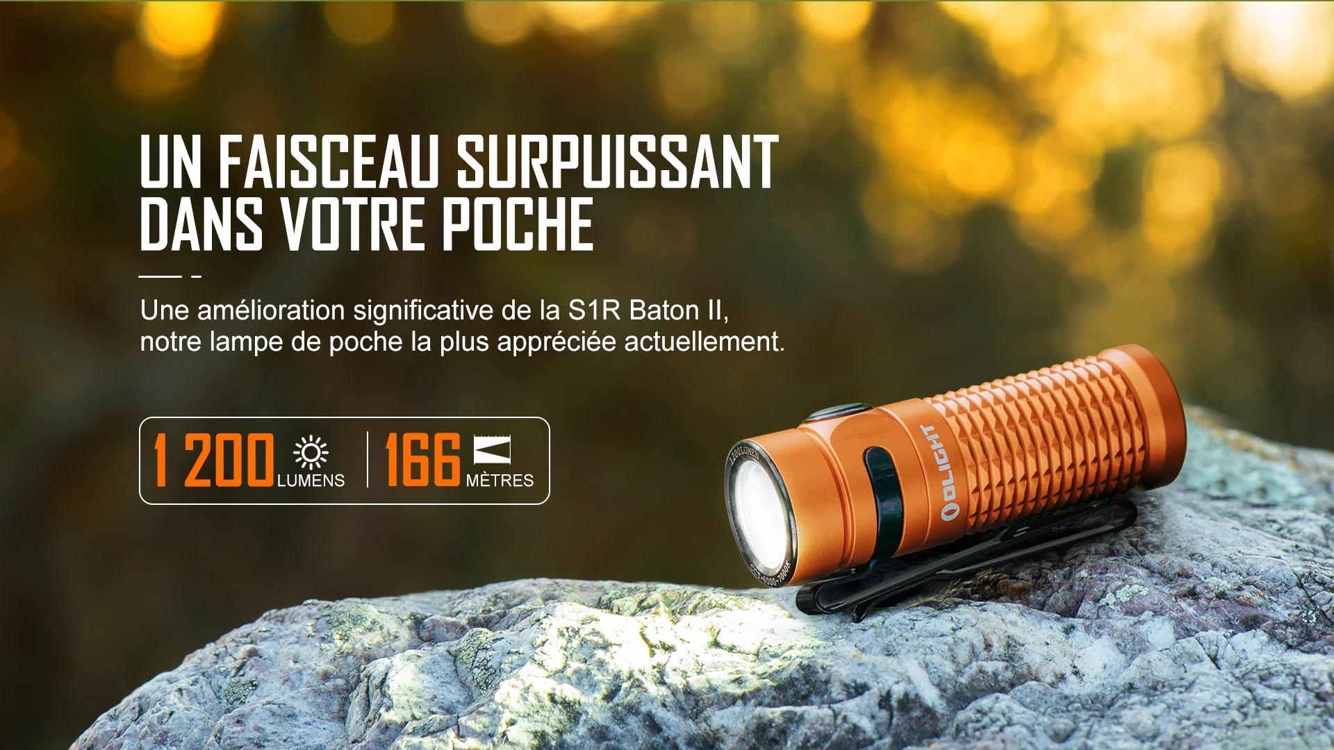 Baton 3 lampe de poche 1200 lumens