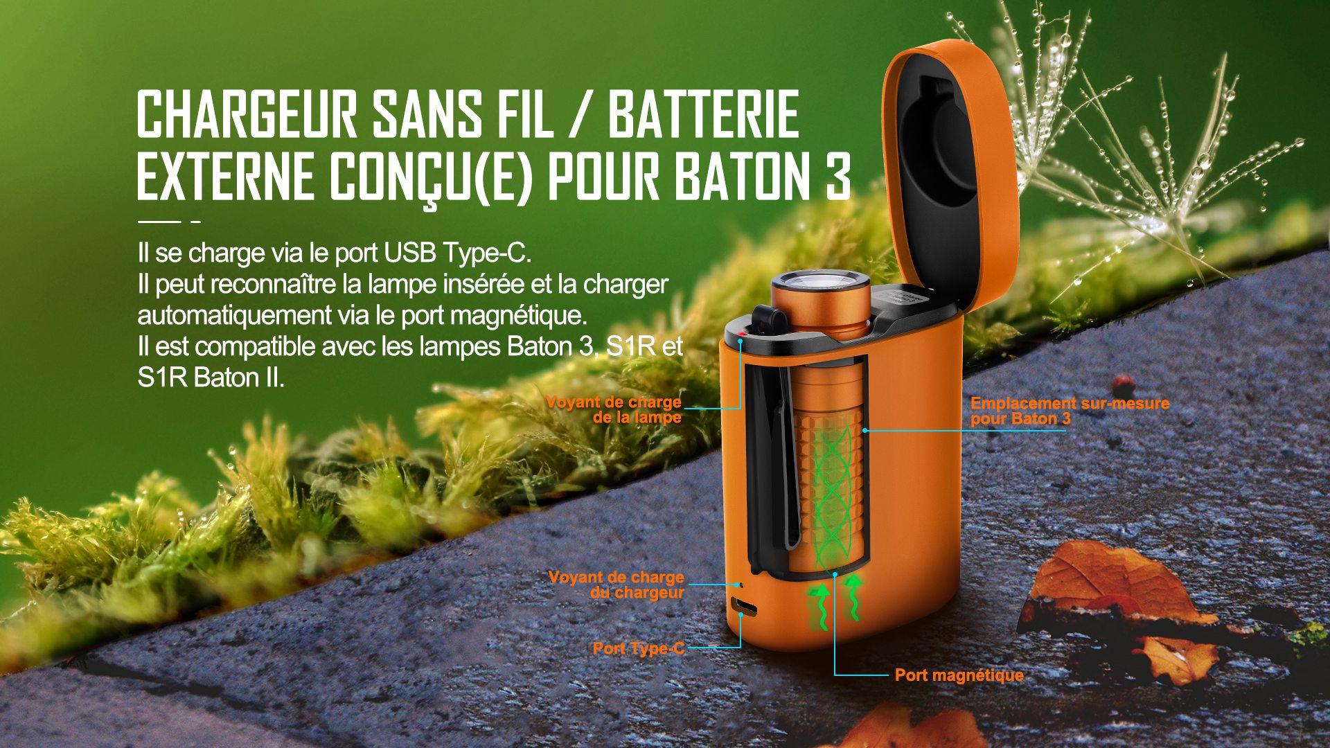 Chargeur sans fil de la Baton 3