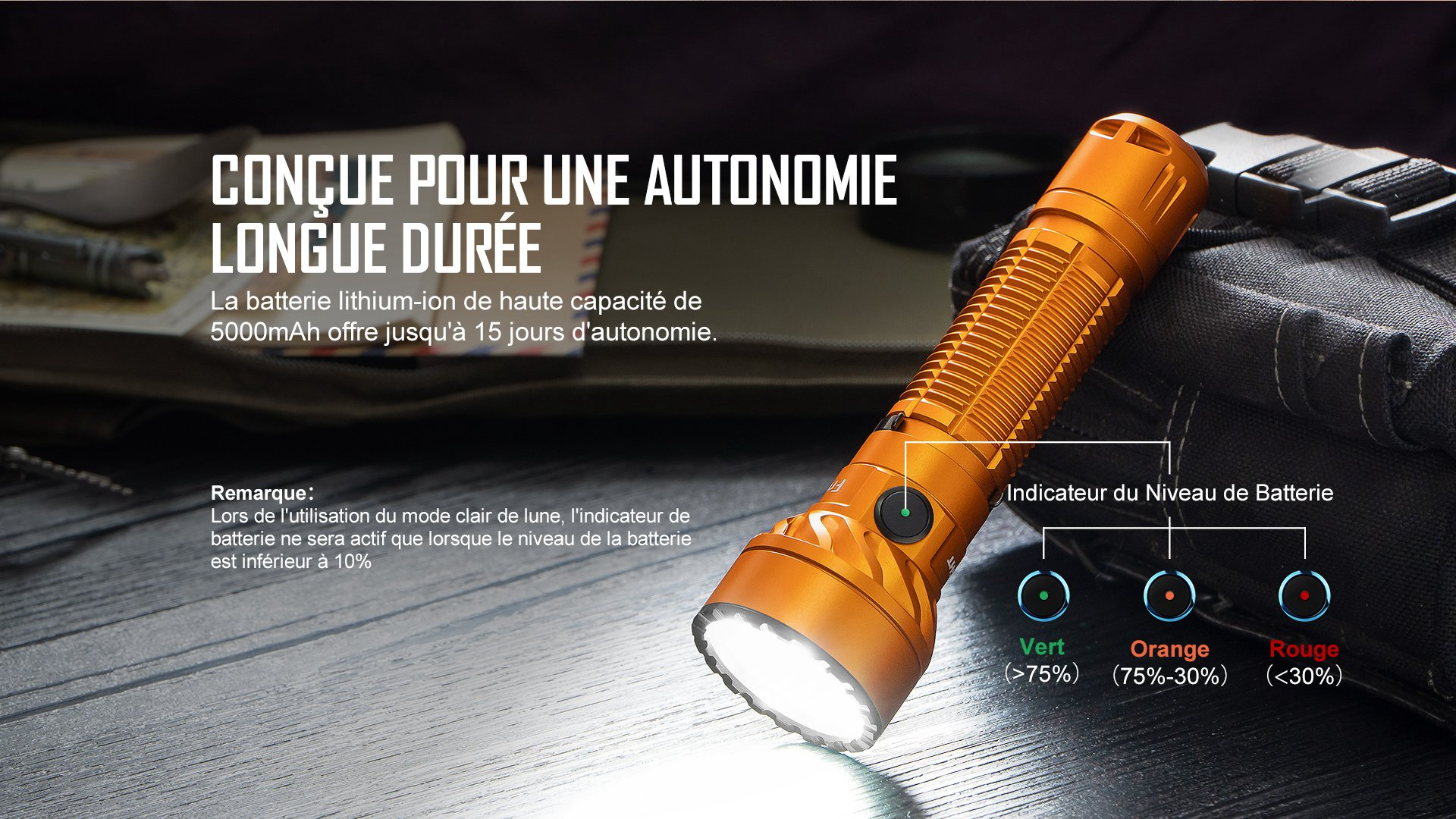 Lampe torche rechargeable au lithium-ion 5000mAh
