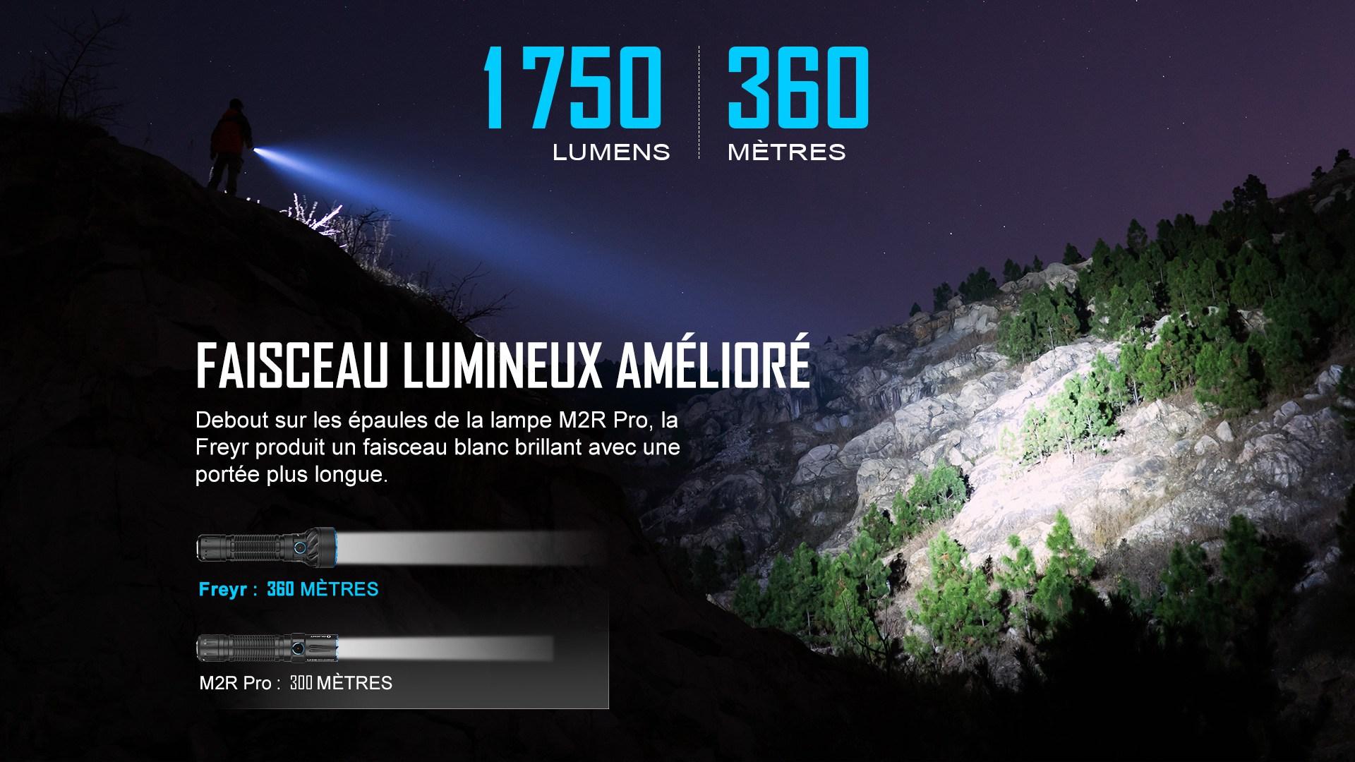 Freyr lampe torche 1750 lumens