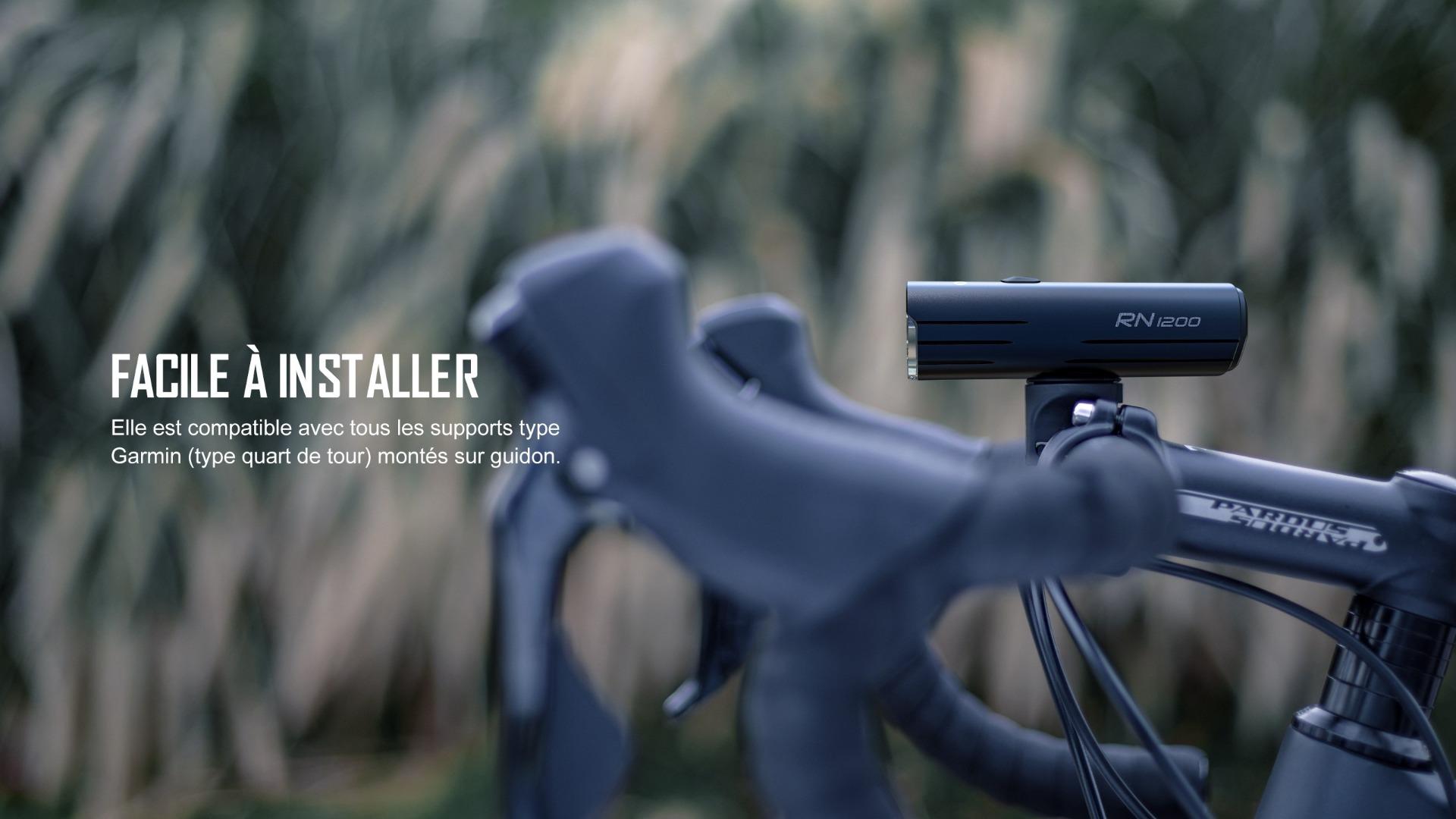 éclairage avant vélo peut être facilement installé