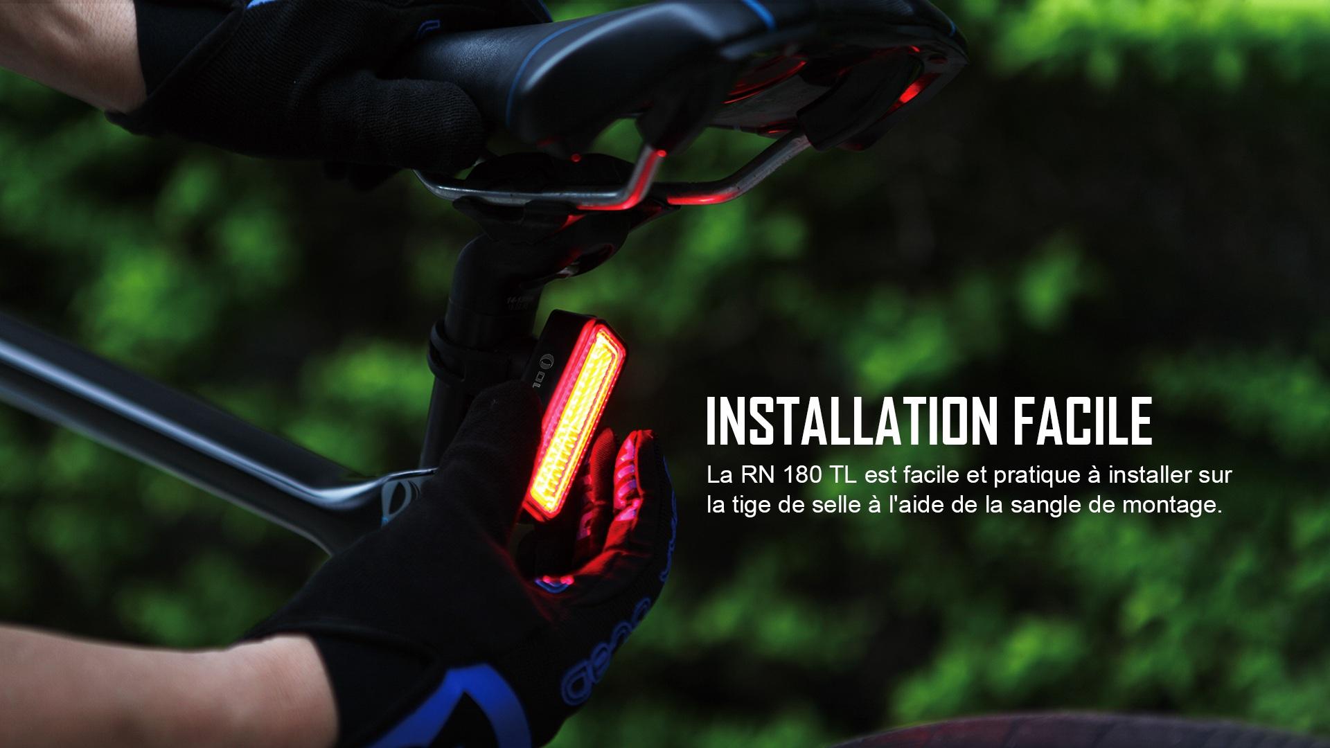 Installation simple des lampe arrière vélo