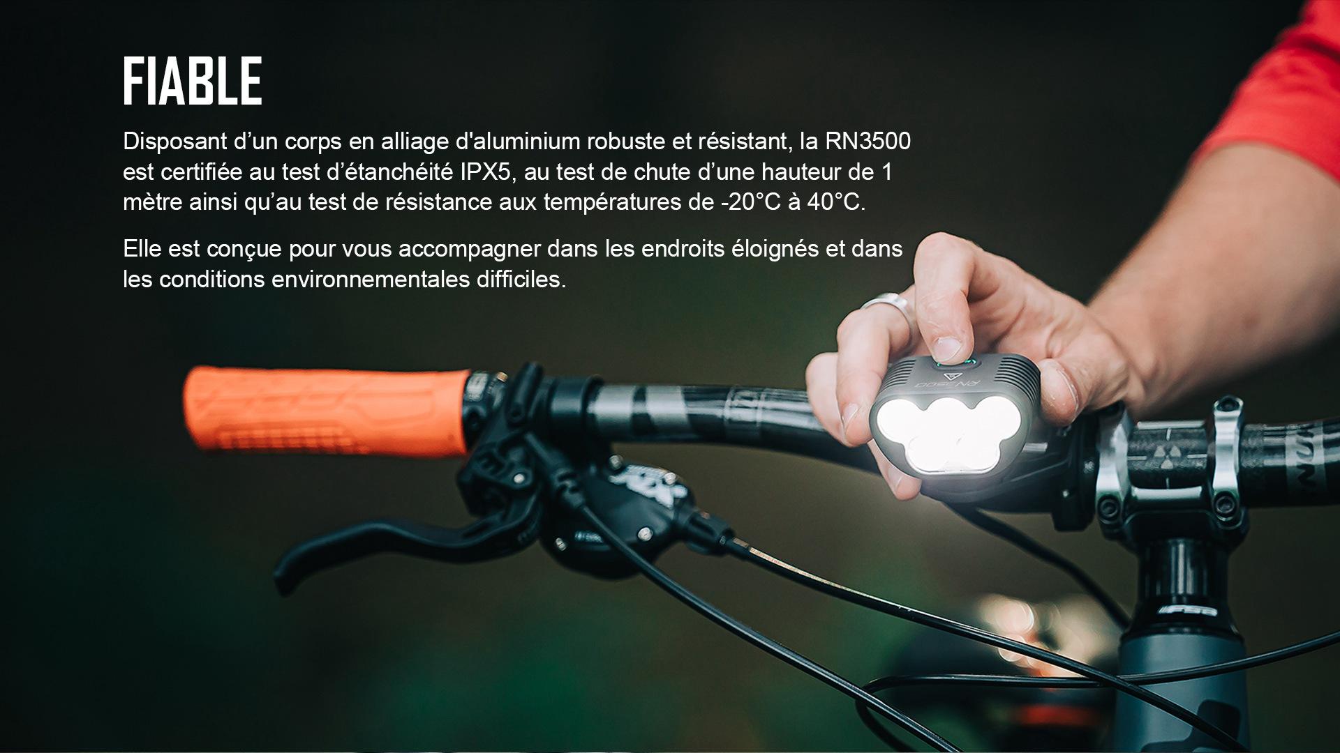 lampe led vélo robustes, durables et étanches IPX5