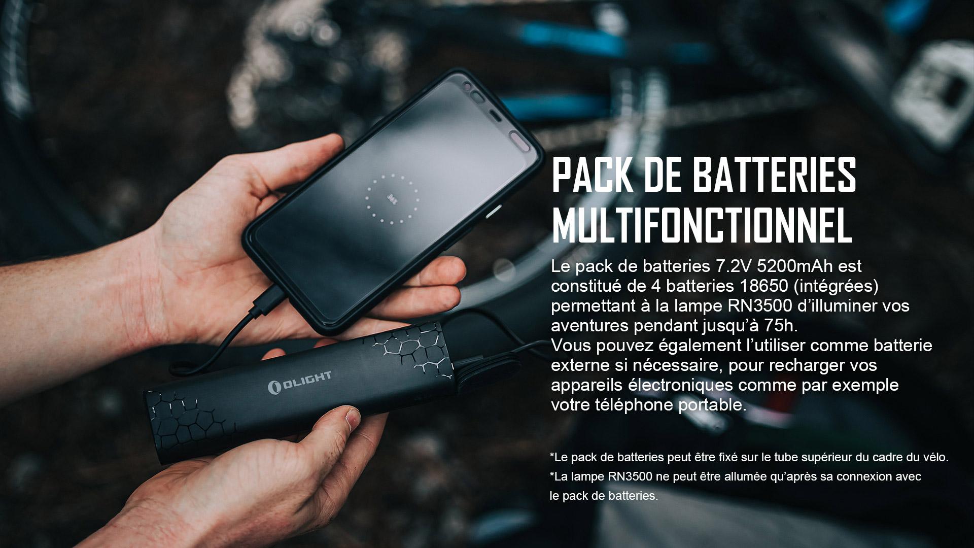 lampe led vélo indicateur de batterie