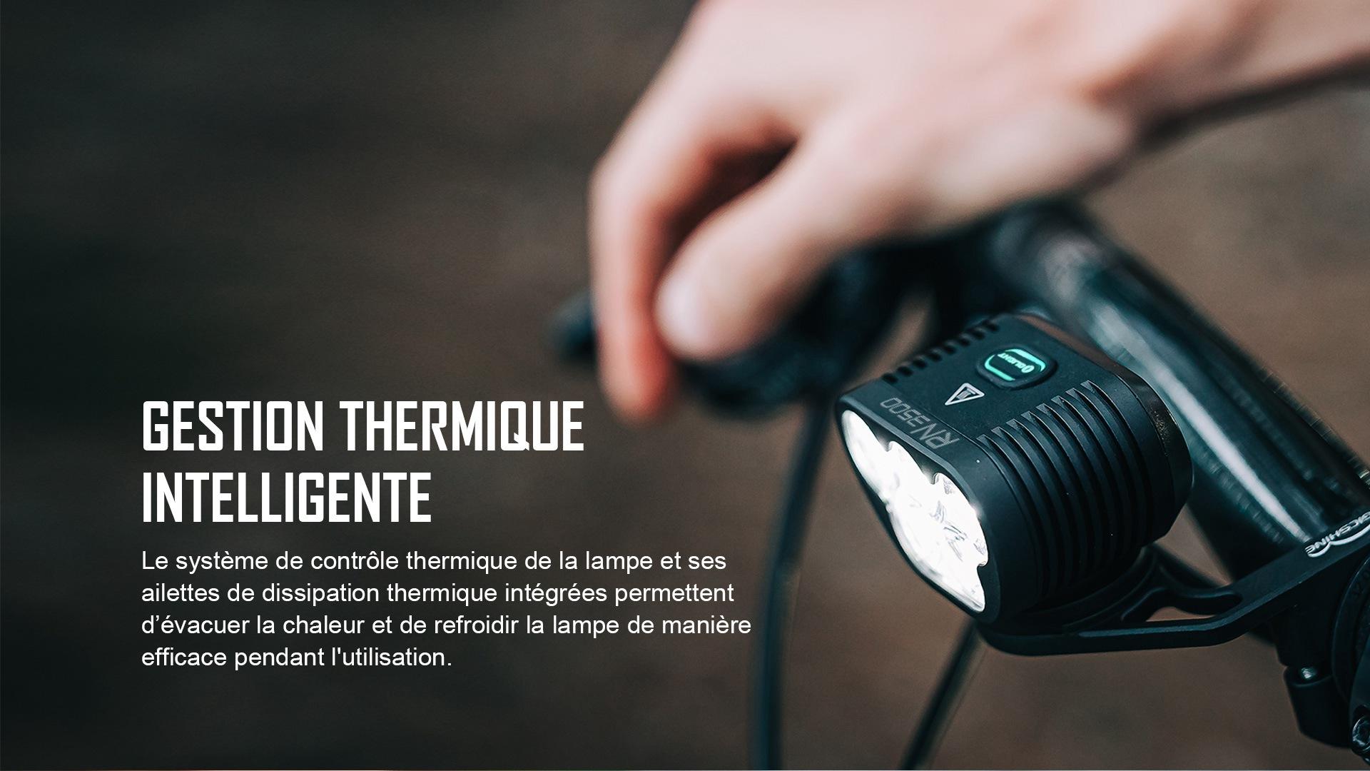 lampe led vélo gestion thermique intelligente