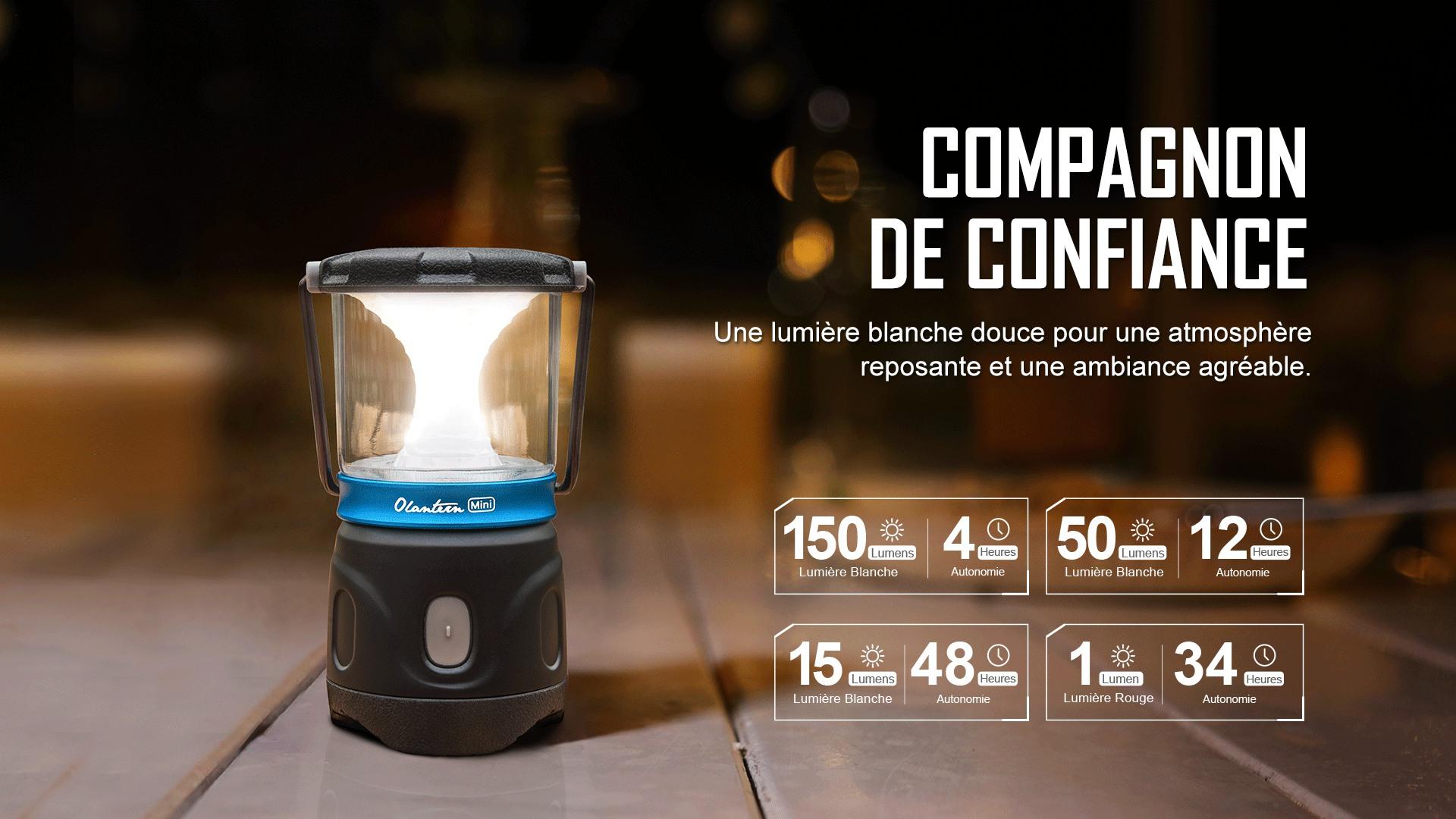 lanterne de camping lanterne de camping peut générer 3 niveaux de luminosité