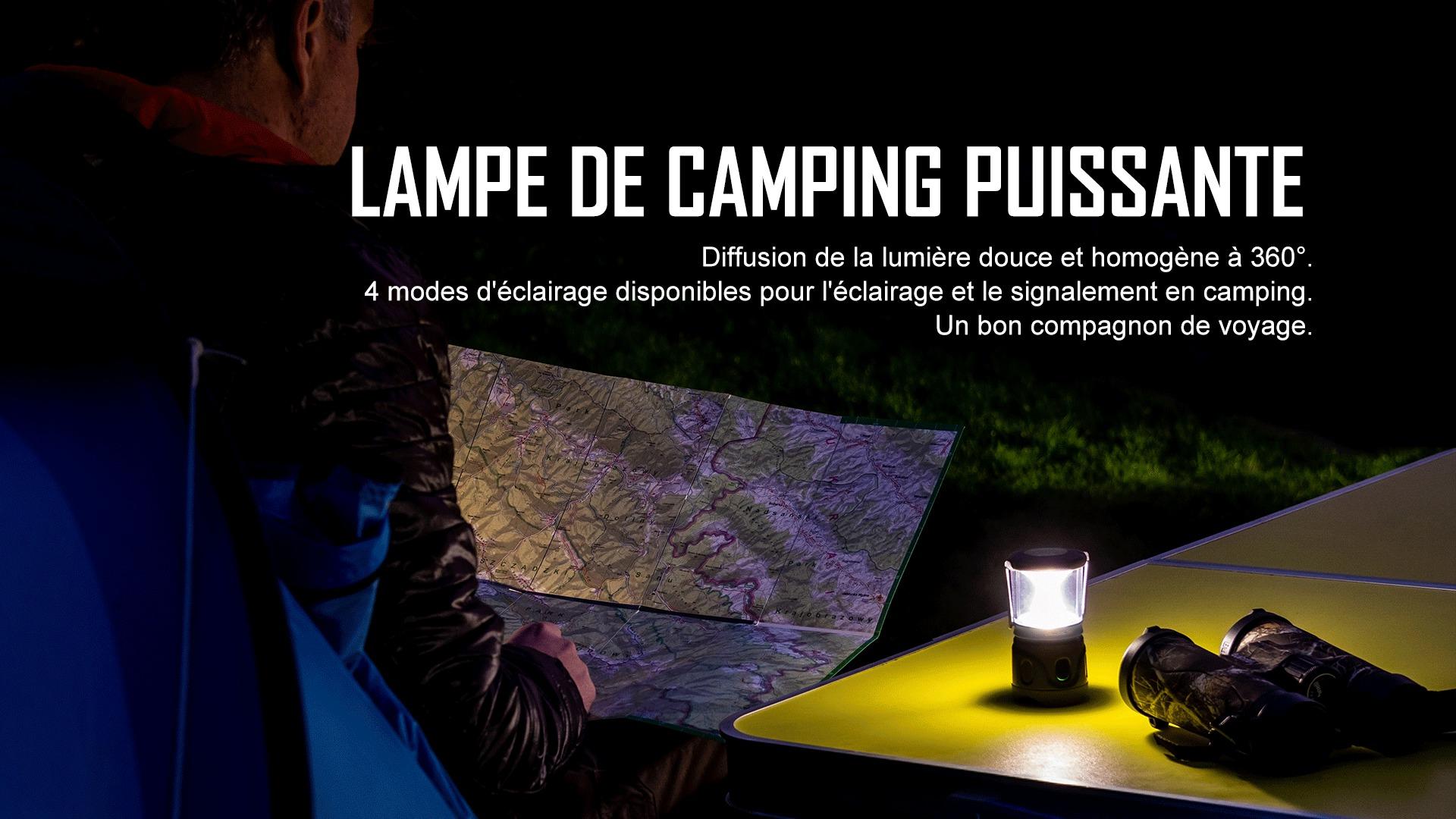 faisceau uniforme à 360° de la lanterne de camping
