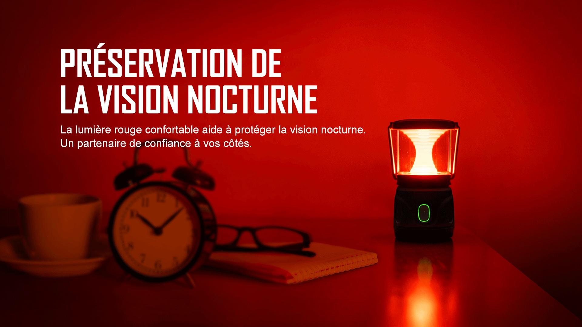 antene rechargeable peut produire une lumière rouge confortable