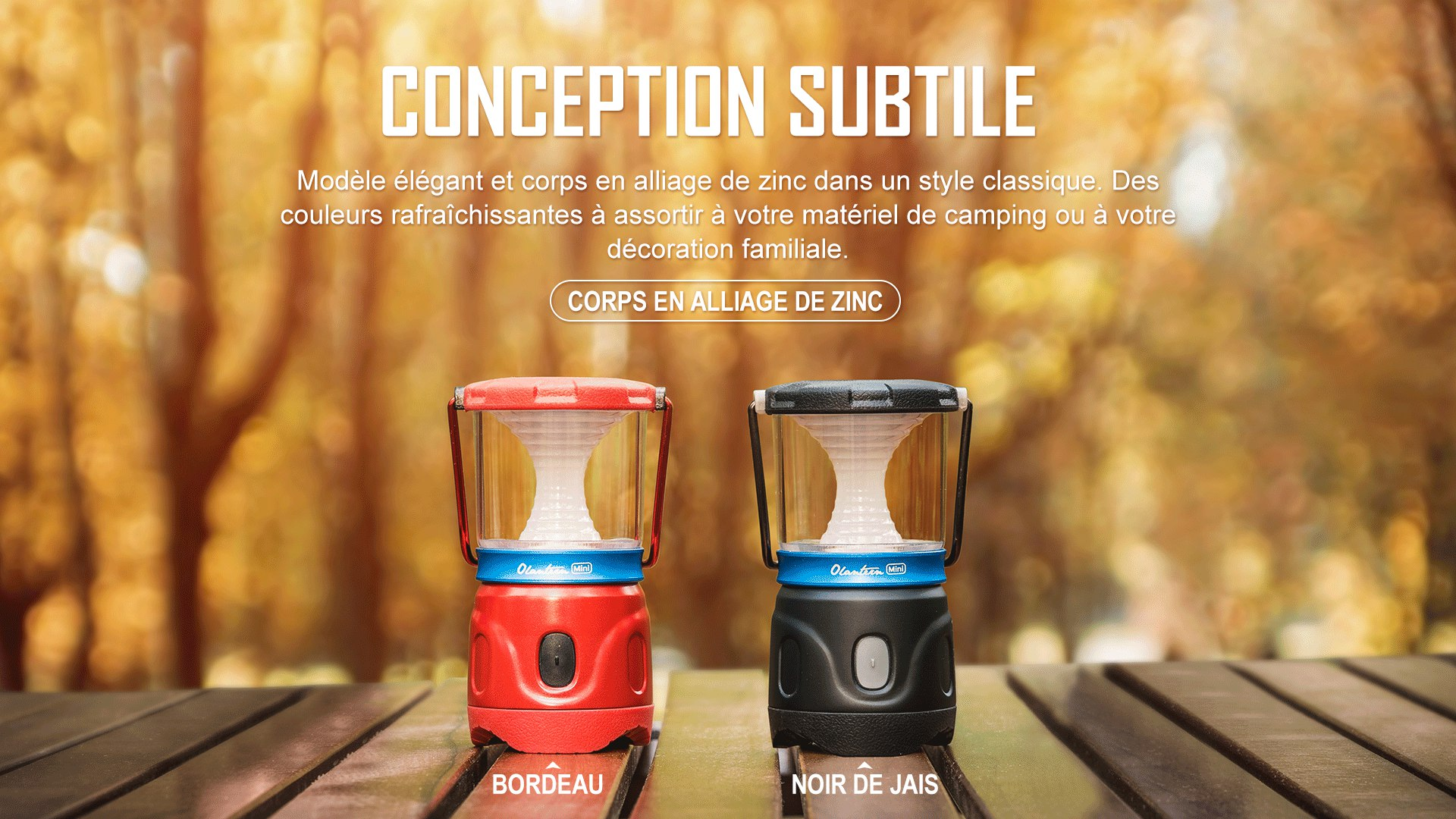 Olantern Mini lanterne de camping est délicieusement conçu