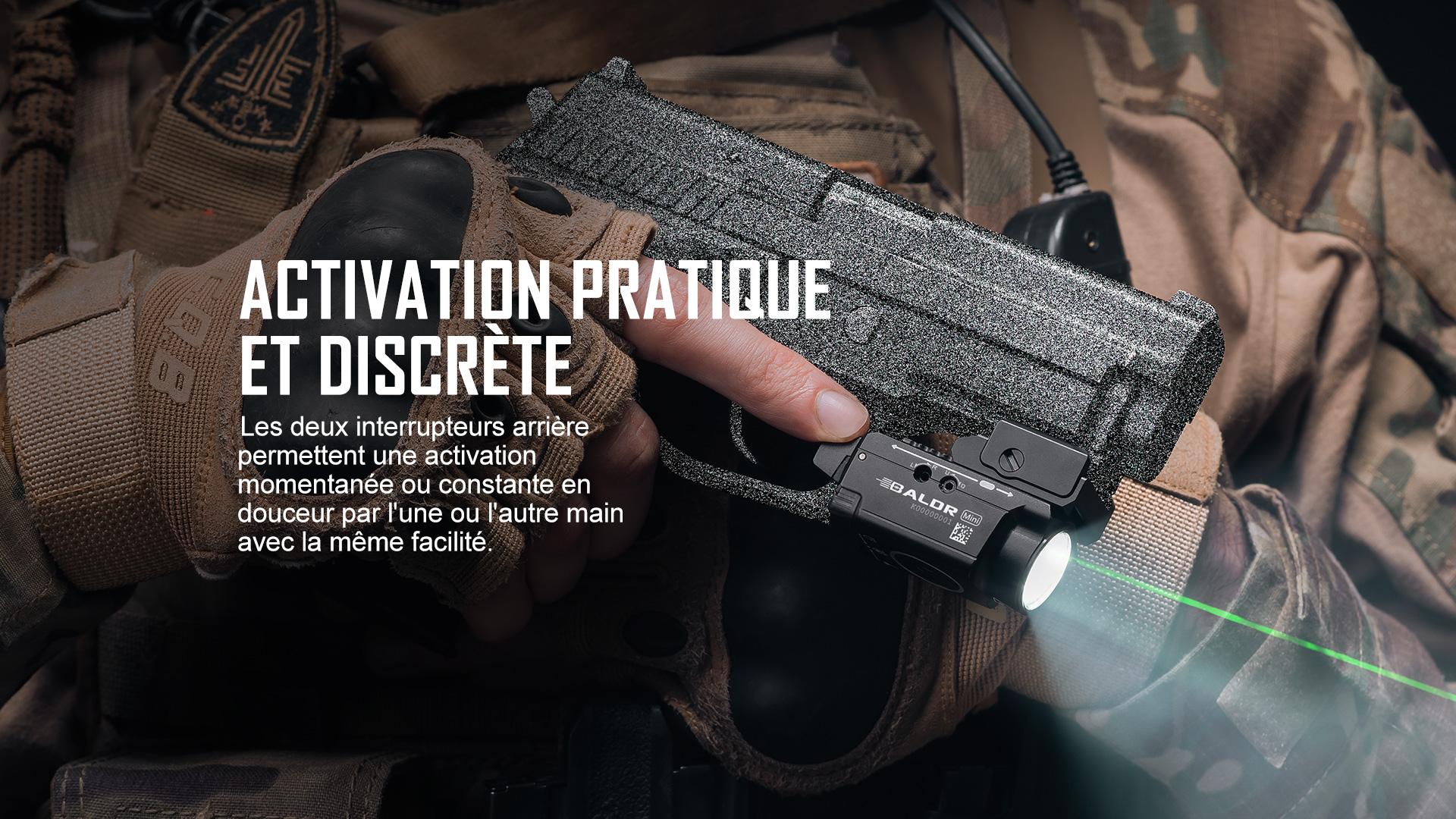 Pratique et Simple à Utiliser BALDR mini lampe militaire