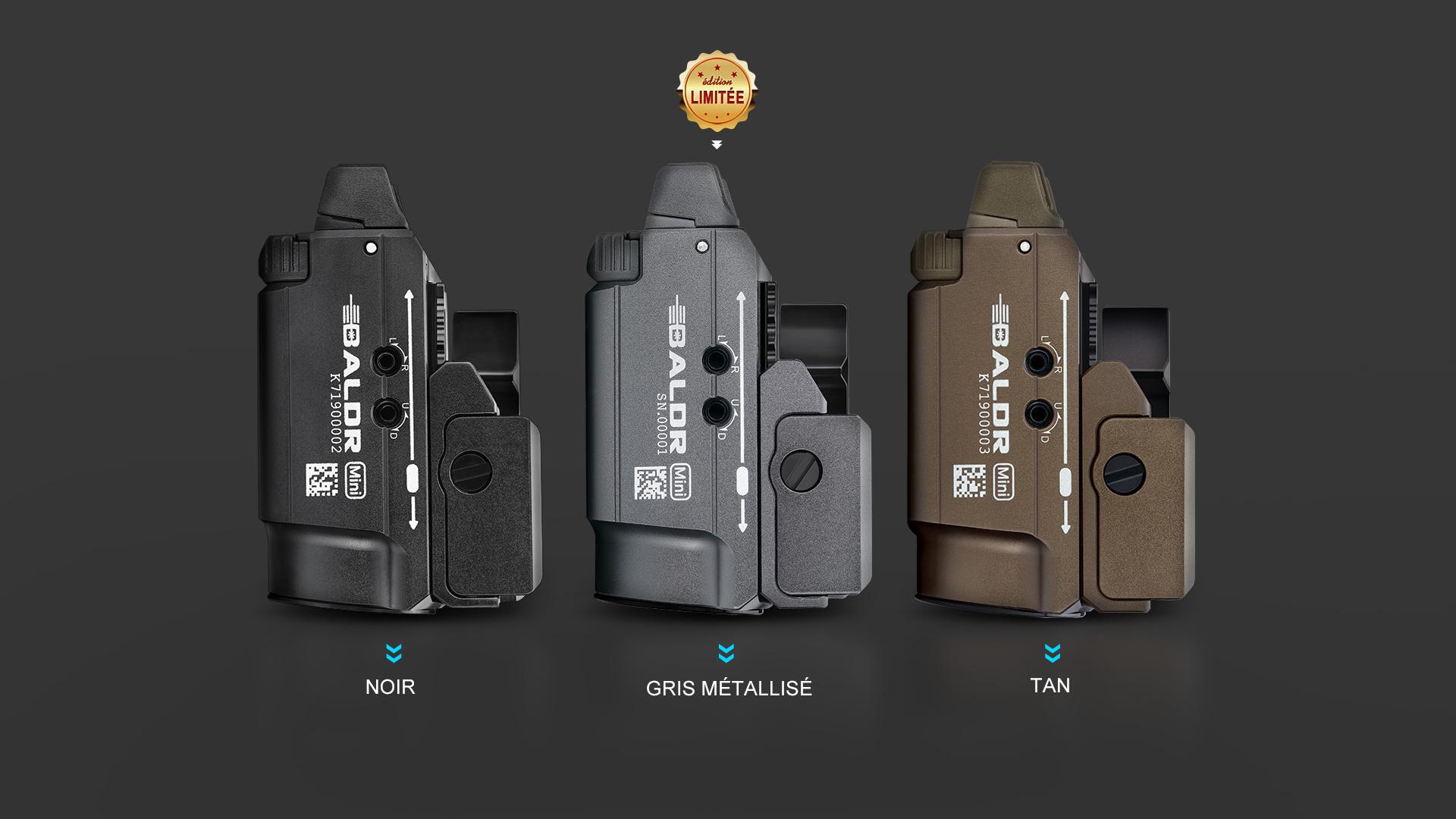 BALDR mini lampe laser militaire 3 couleurs