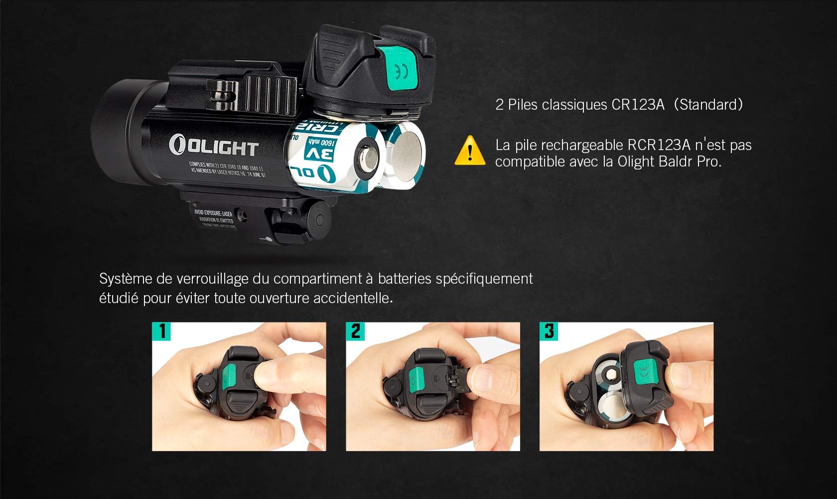 Baldr Pro système de verrouillage du compartiment à batteries