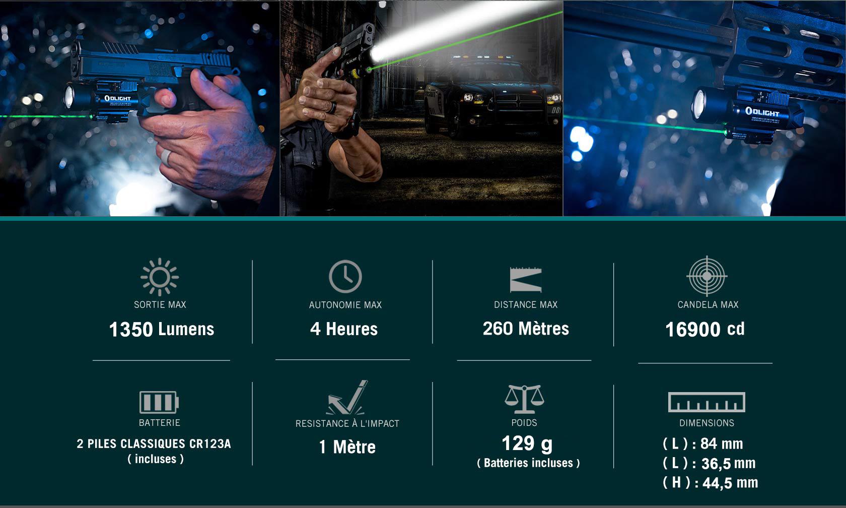 baldr pro Lampe Ultra Puissante Militaire Avec Laser