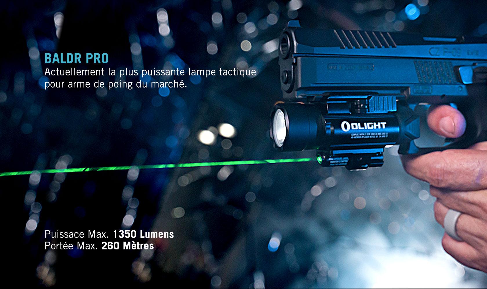 Baldr Pro lampe compatible avec des rails picatinny
