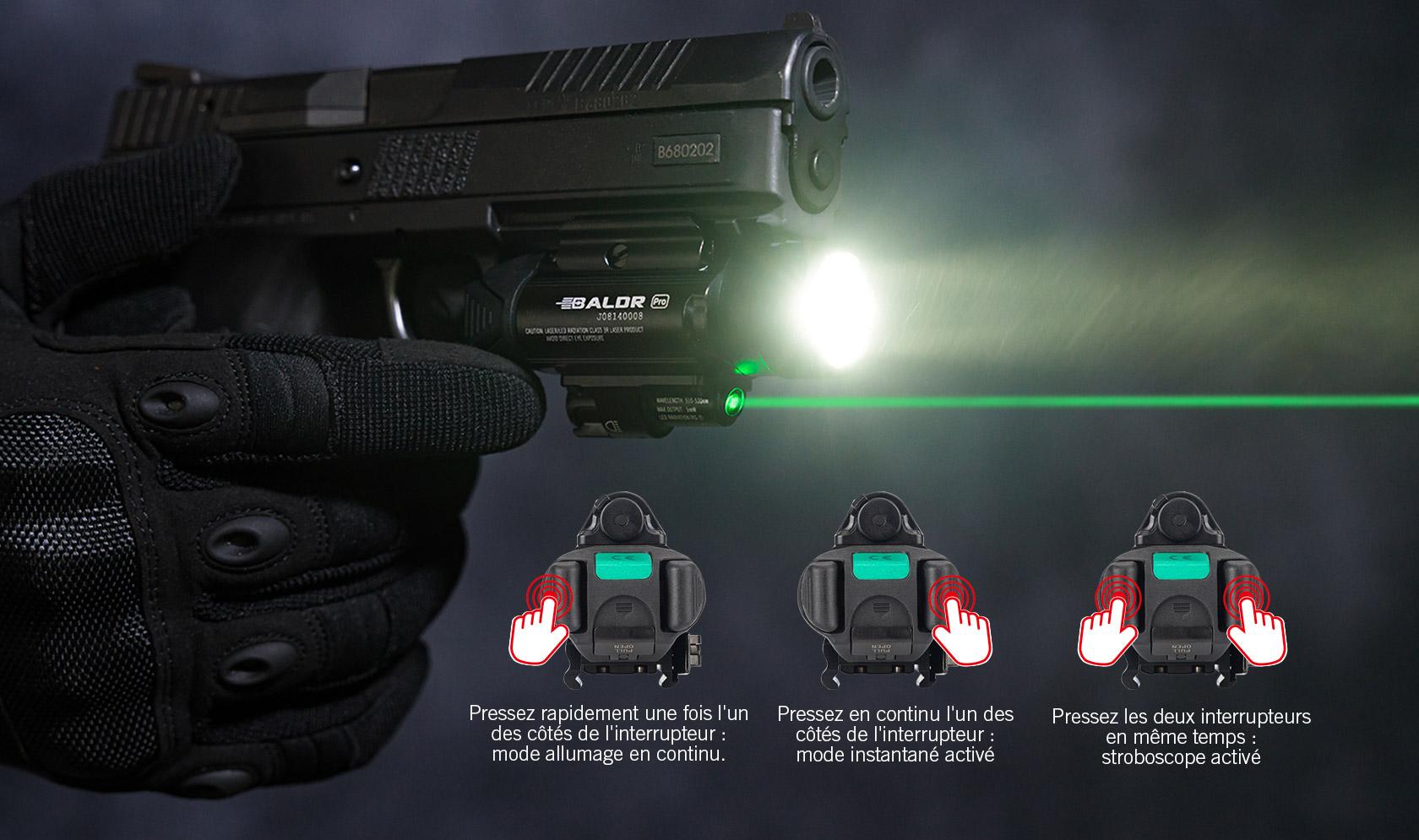 lampe ultra puissante militaire rapide et simple à utiliser