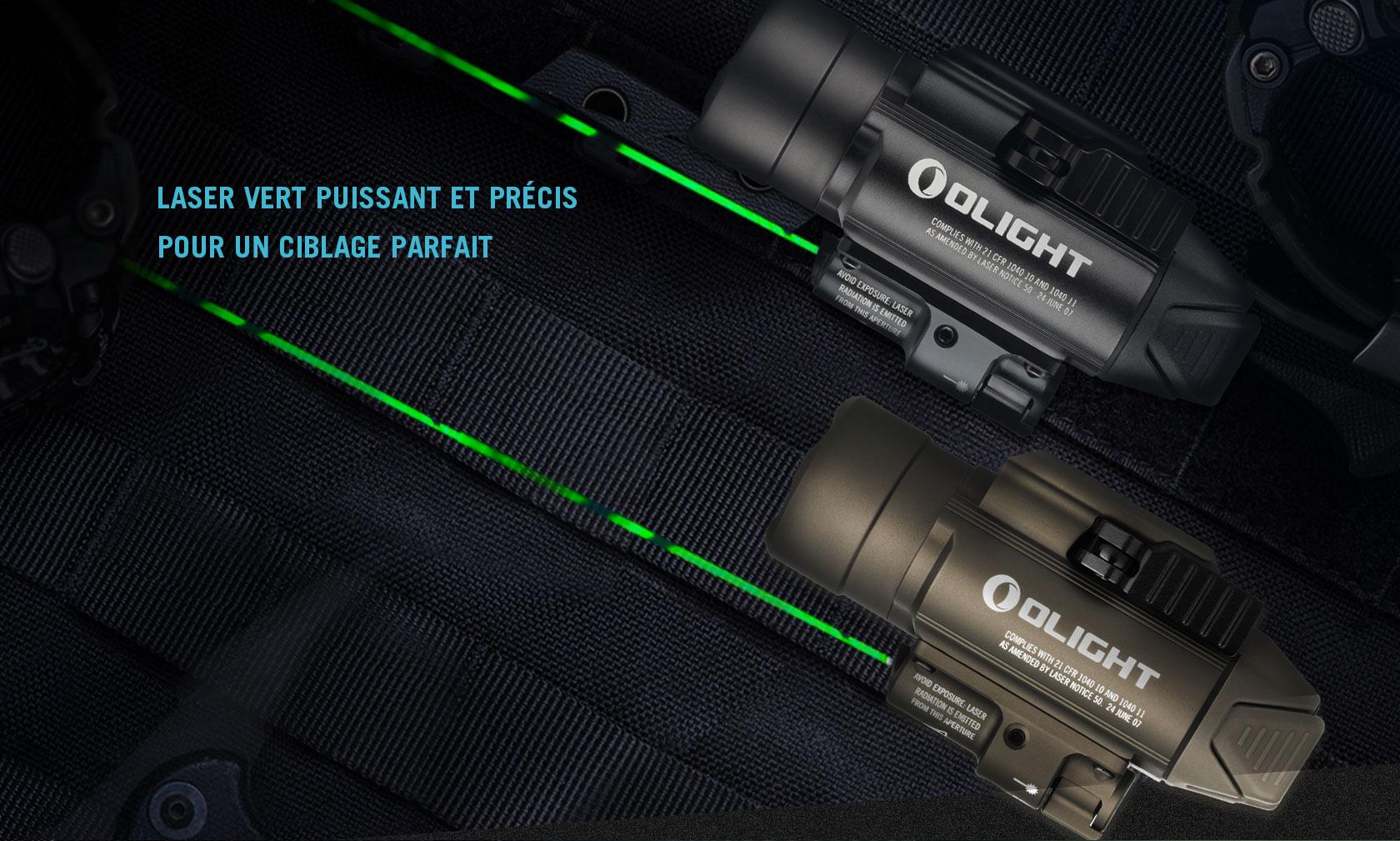 baldr pro lampe militaire laser vert