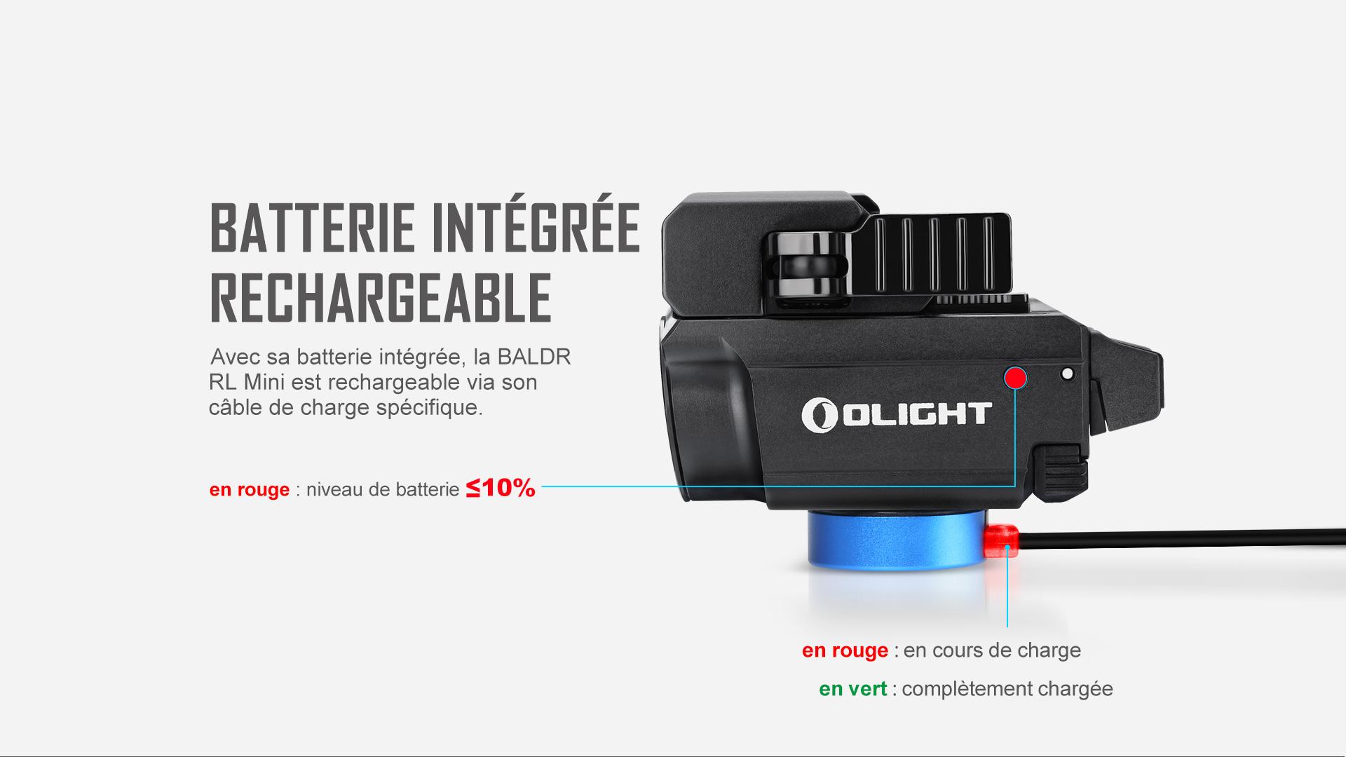 Baldr RL Mini a une batterie rechargeable intégrée