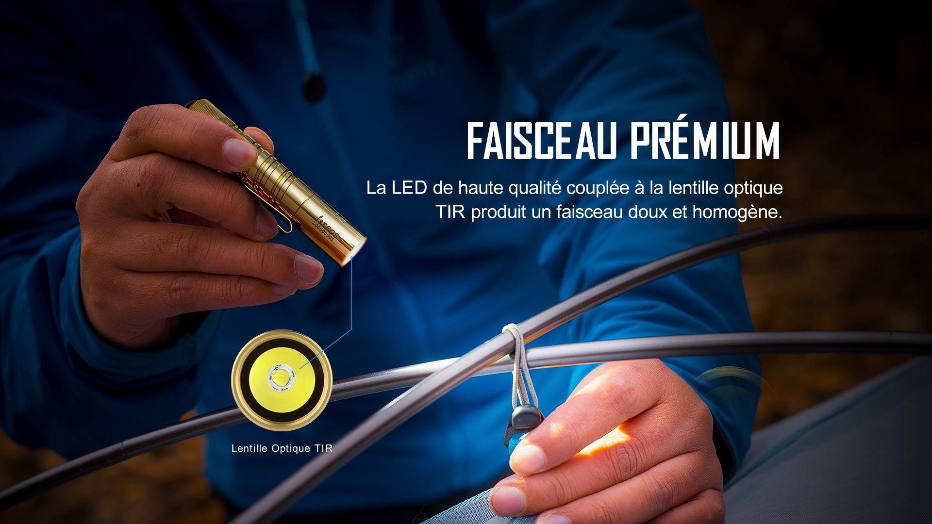 i3T Lampe torche lampe EDC Lampe de poche