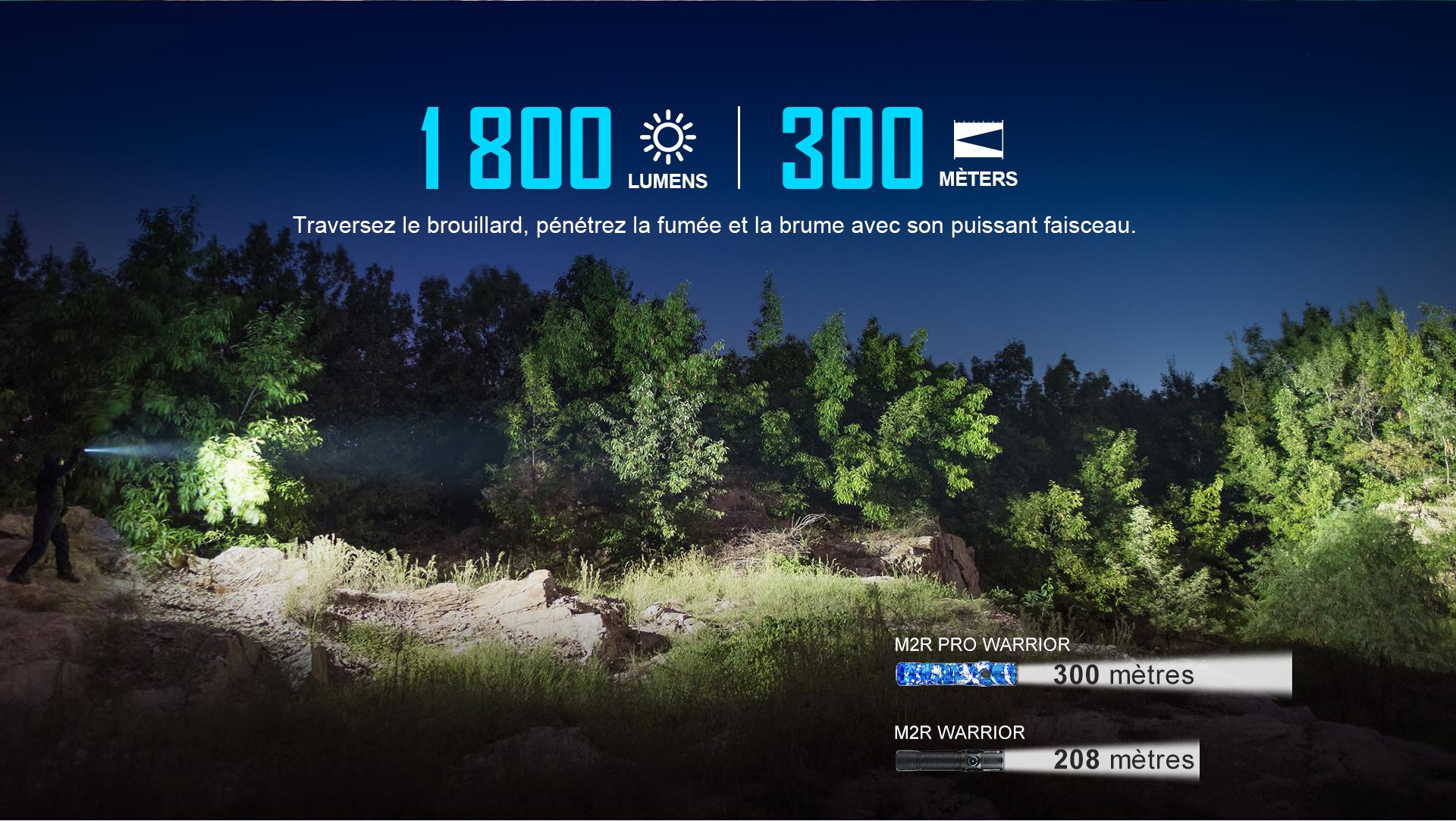 lampe torche led militaire 1800 lumens