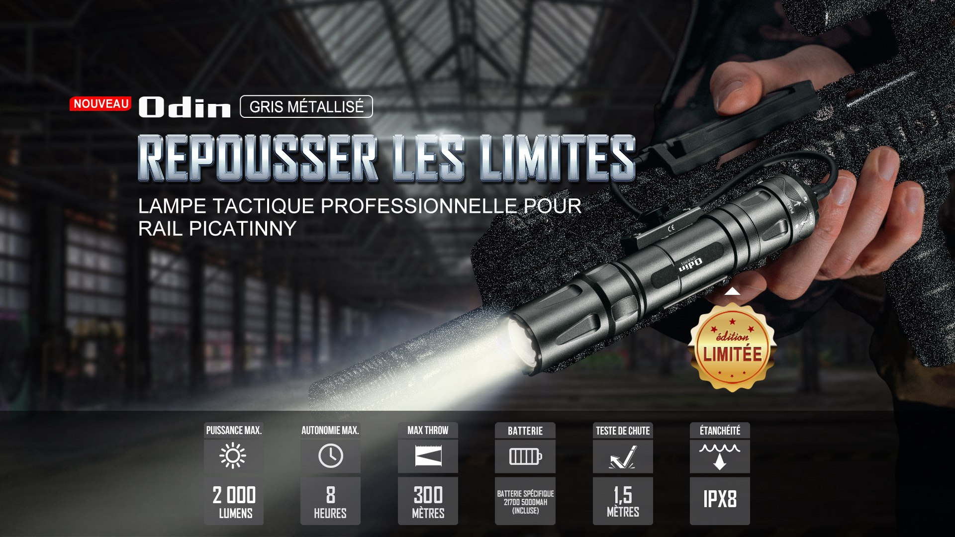 Olight Odin lampe tactique militaire picatinny puissante
