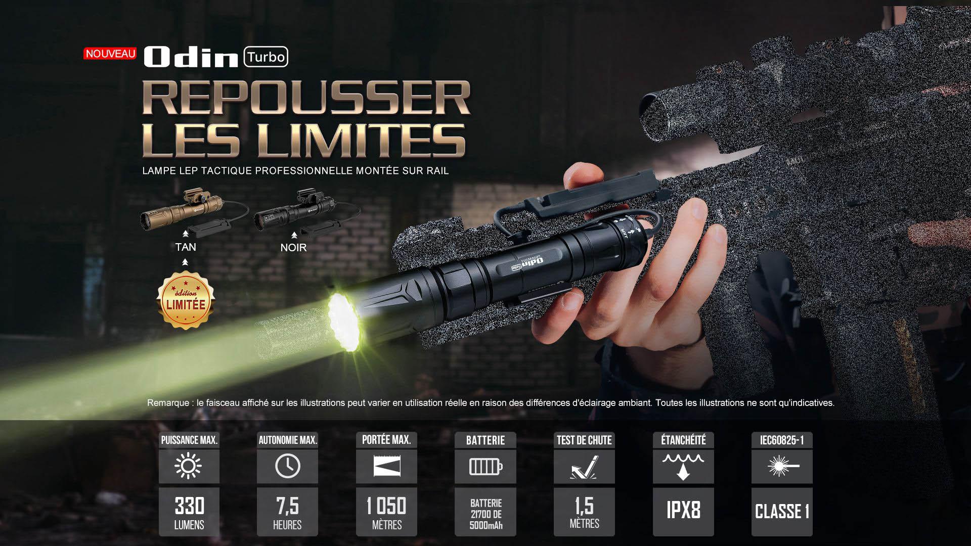 Odin Turbo lampe torche laser lep longue portée