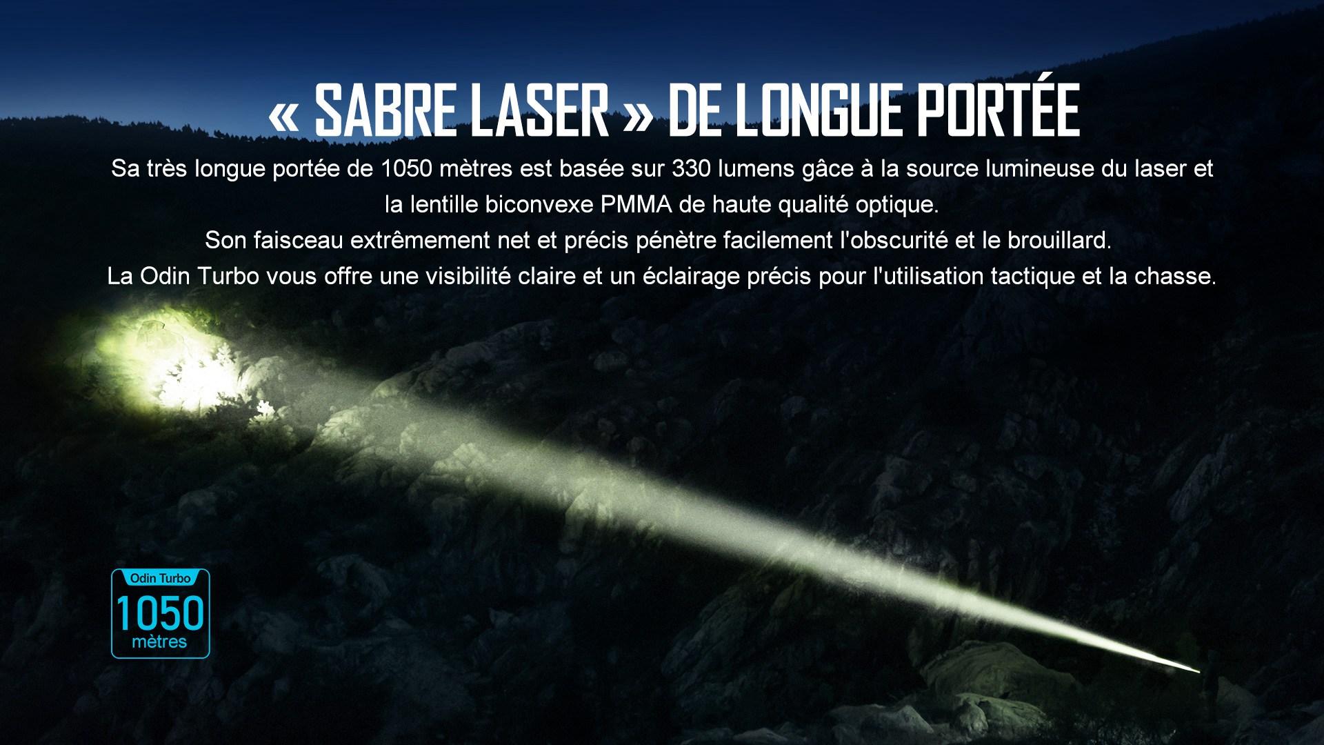 lampe torche laser lep longue portée 330 lumens