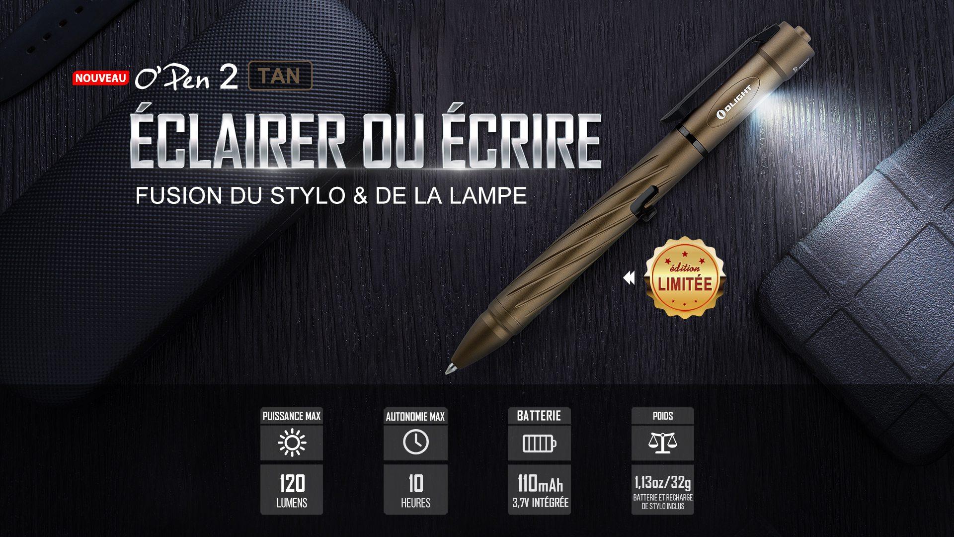 Open 2 lampe torche stylo portable 120 Lumens