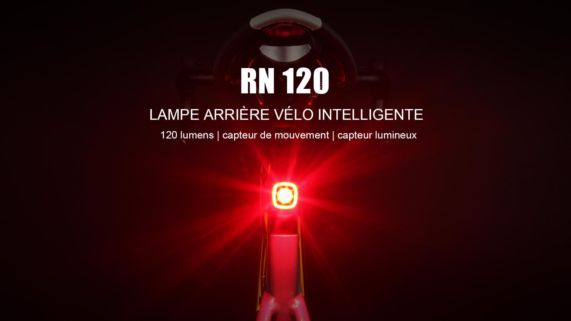 RN 120 Lampe Intelligente Arrière Vélo 120 Lumens
